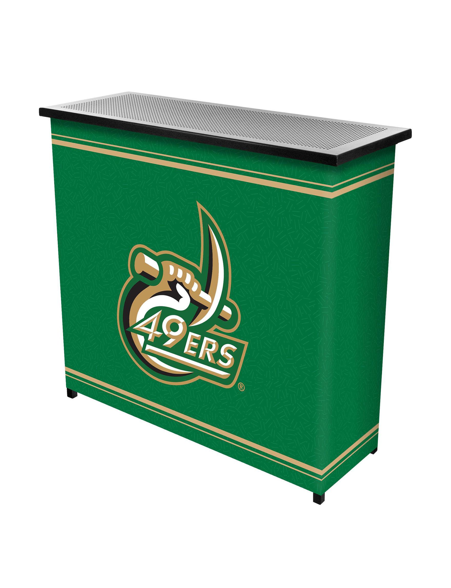 NCAA Green / White Bar & Wine Storage Kitchen & Dining Furniture