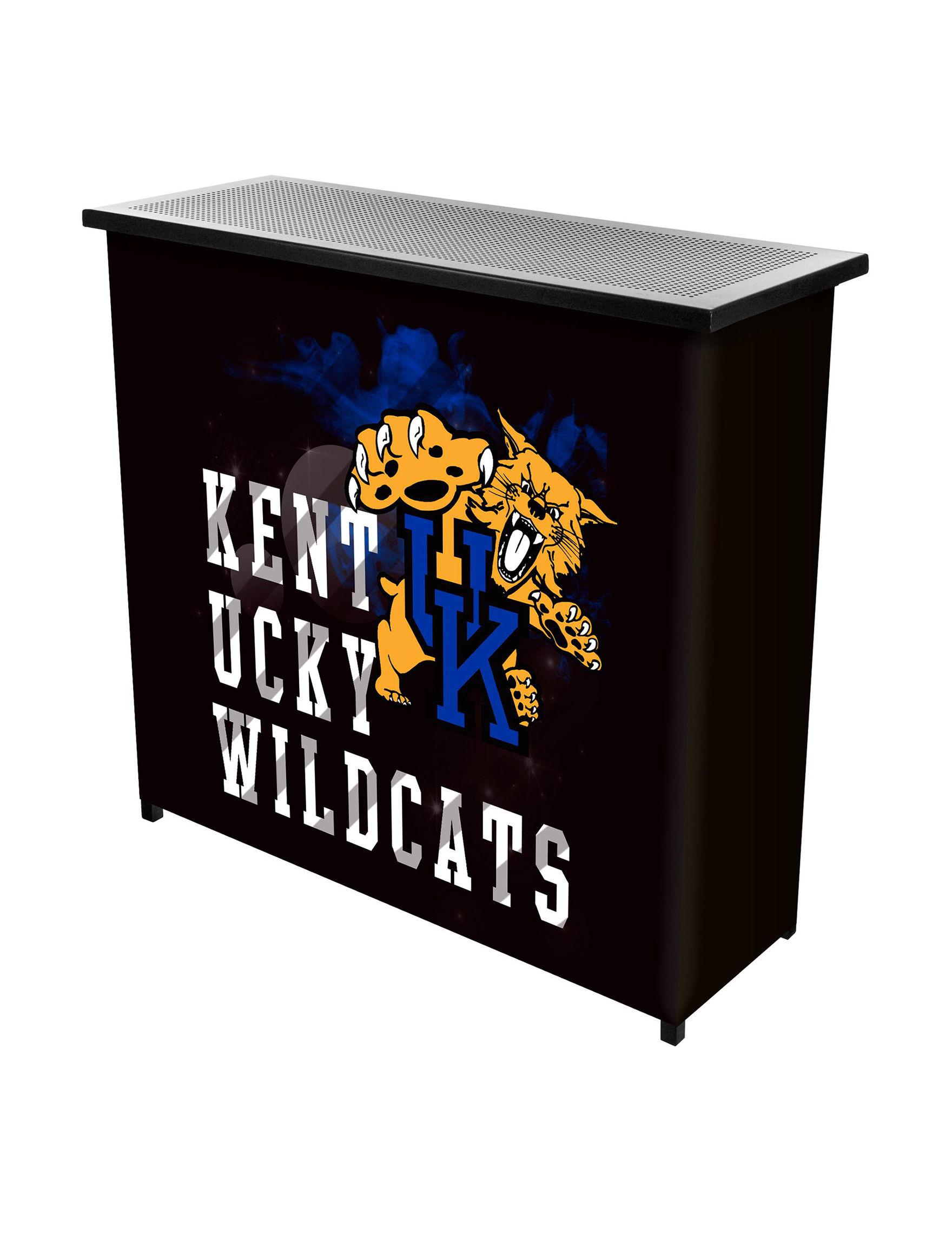 NCAA Black / Blue / White Bar & Wine Storage Kitchen & Dining Furniture