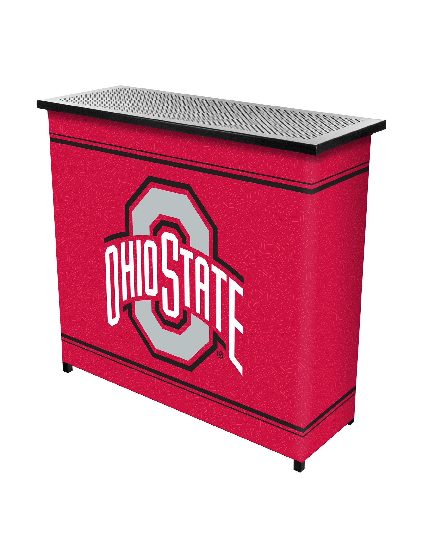 NCAA Red Multi Bar & Wine Storage Kitchen Islands & Carts Home Accents