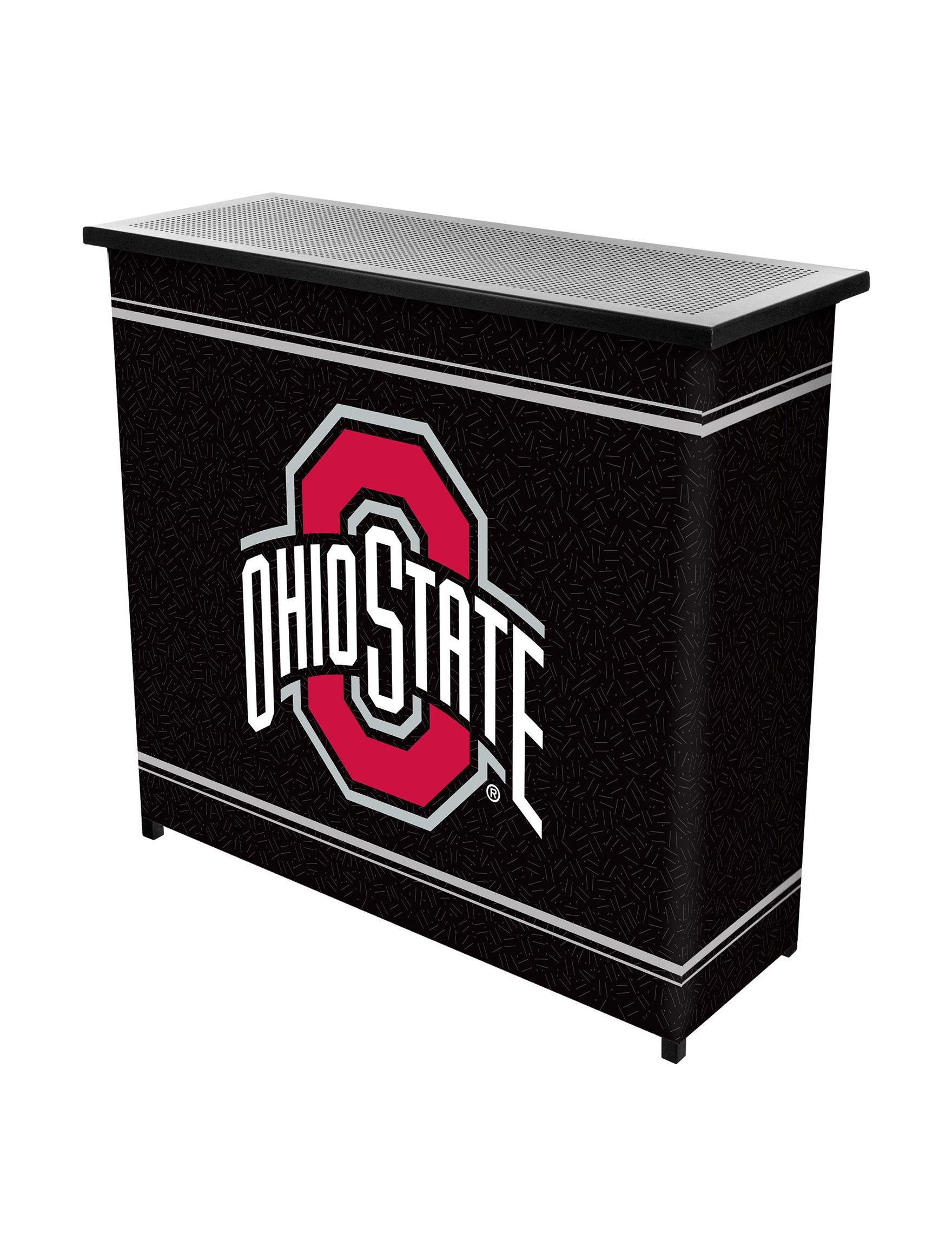 NCAA Red / Black / White Bar & Wine Storage Kitchen & Dining Furniture