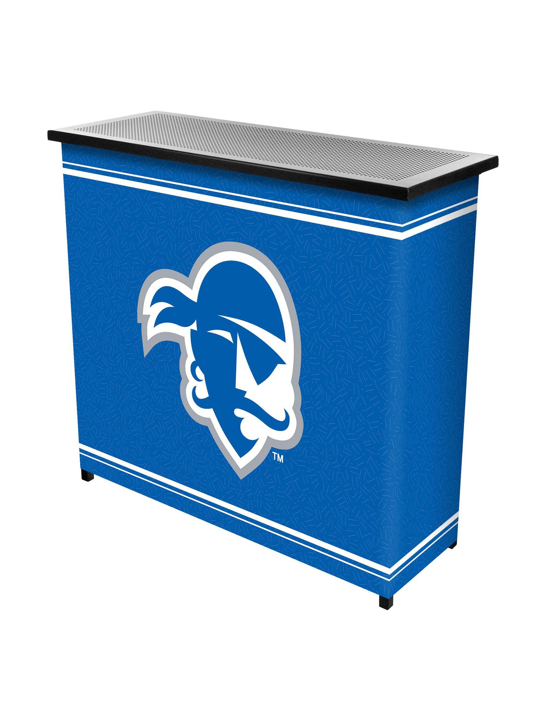 NCAA Blue/ White/ Grey Bar & Wine Storage Kitchen & Dining Furniture