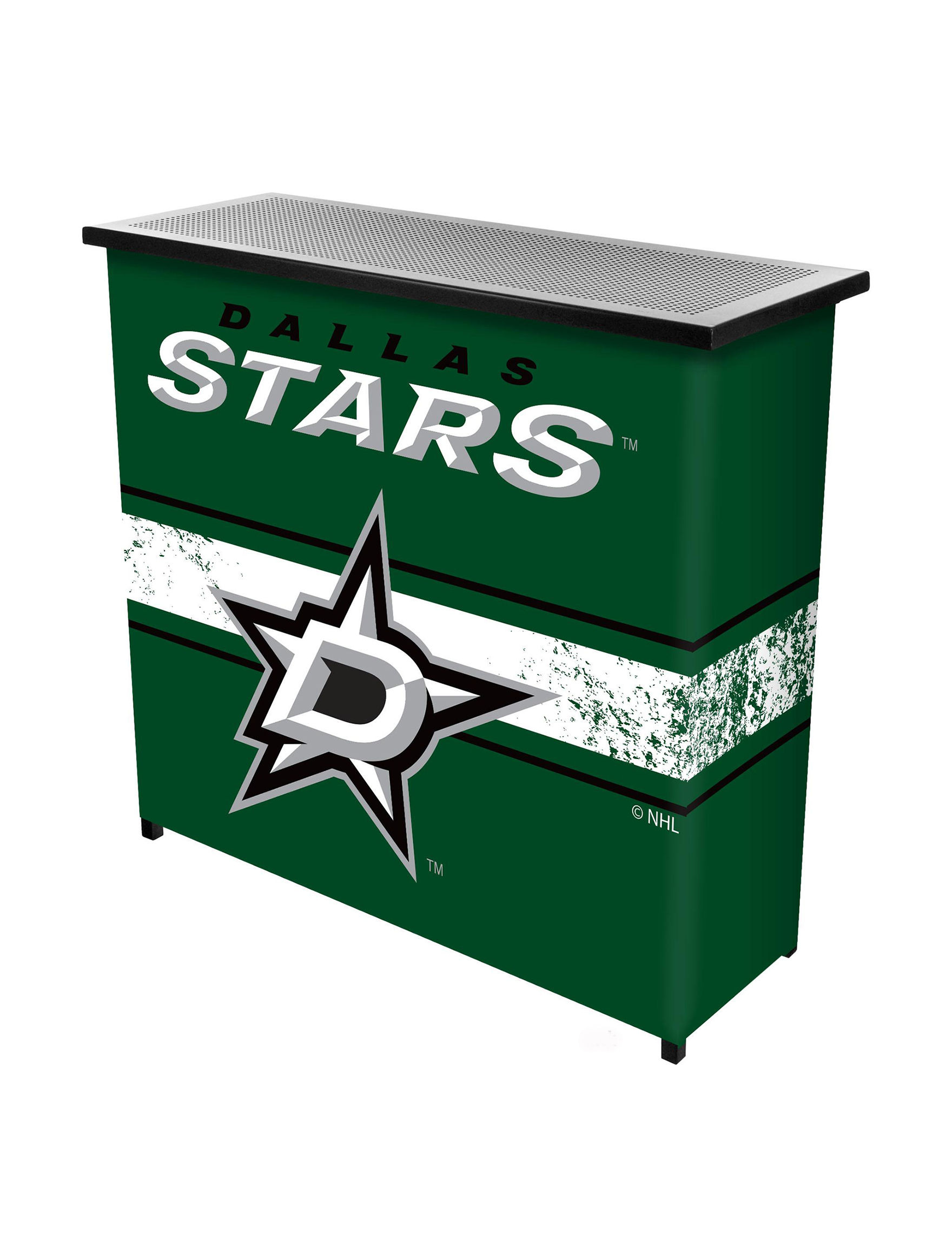 NHL Green Bar & Wine Storage Game Room Outdoor Entertaining