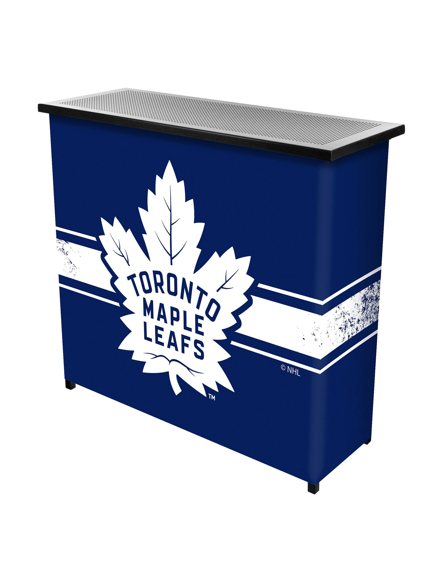 NHL Blue / White Bar & Wine Storage Game Room Outdoor Entertaining