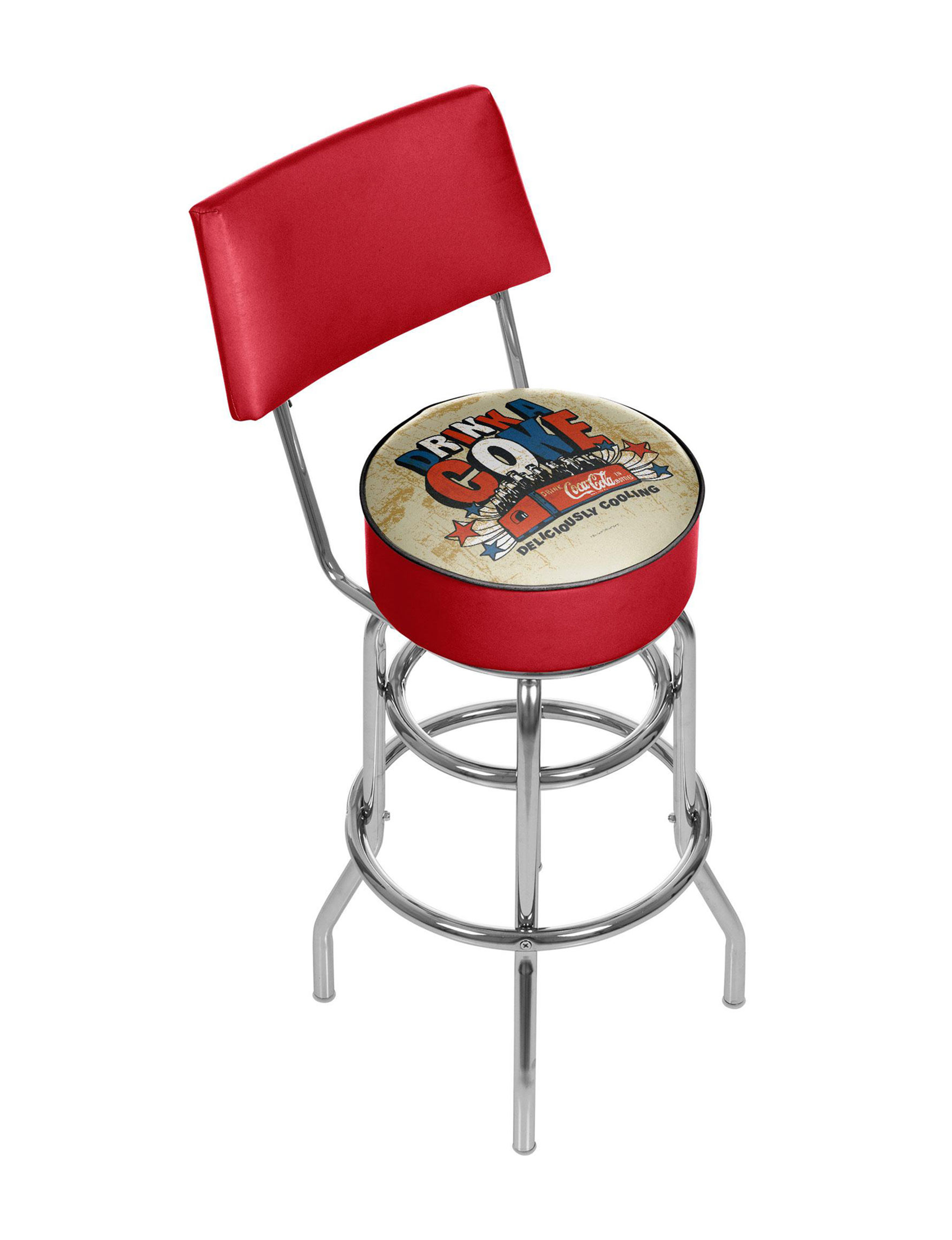 Coca Cola Brazil Quot Drink A Coke Quot Chrome Bar Stool With Back