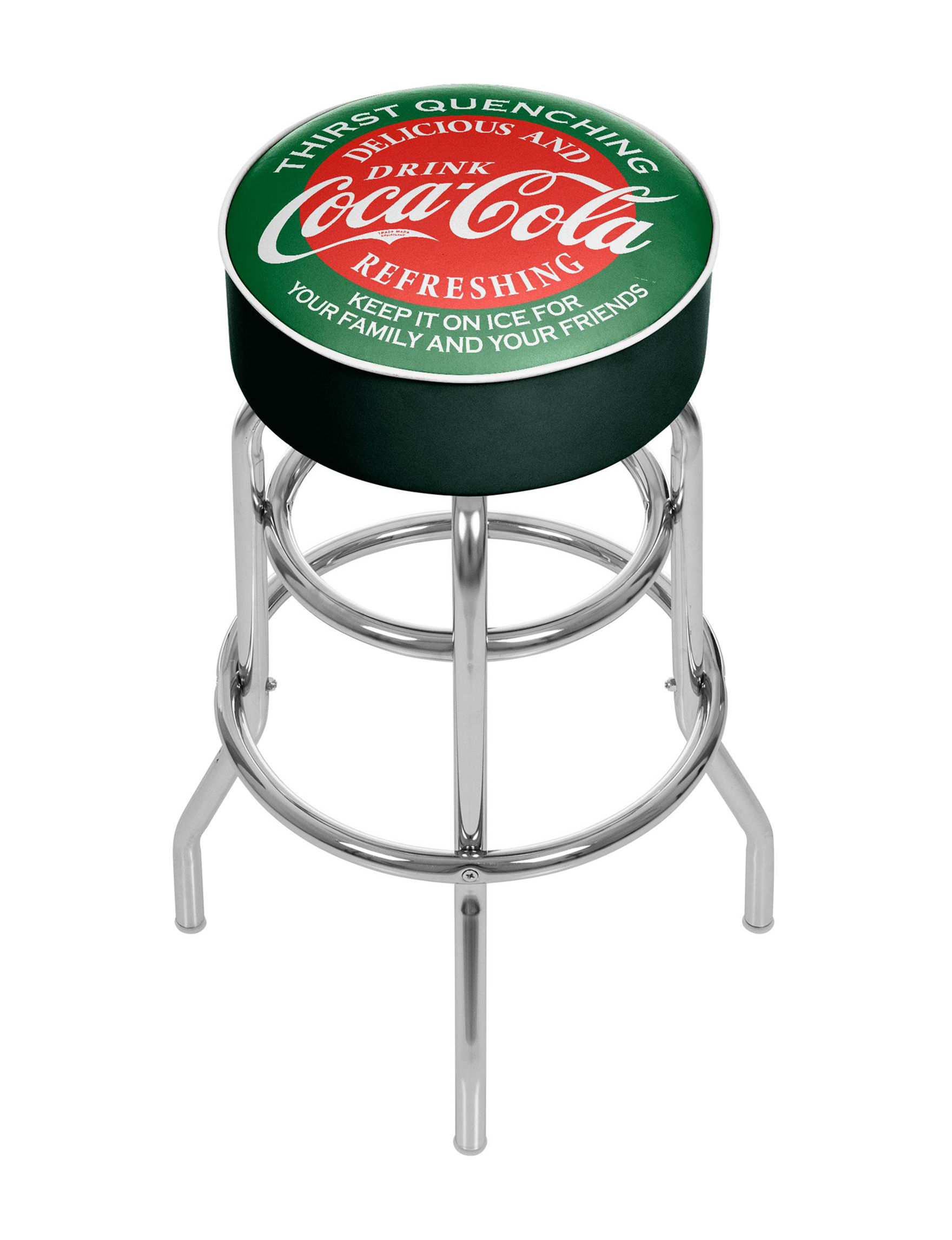 Coca Cola Green / Red Bar & Kitchen Stools Kitchen & Dining Furniture