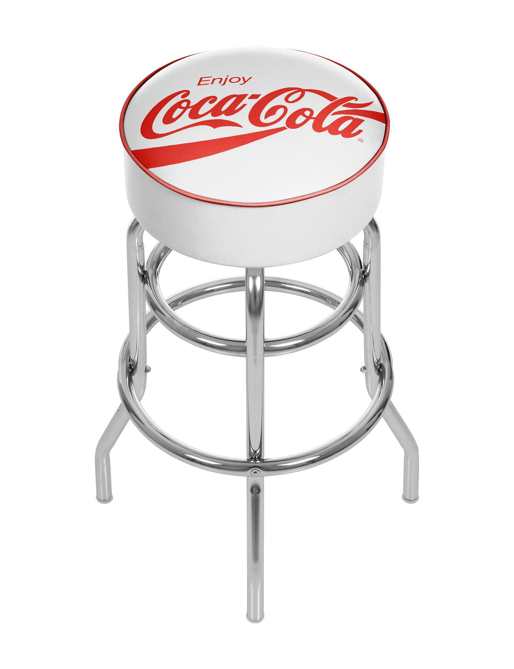 Coca Cola White / Red Bar & Kitchen Stools Kitchen & Dining Furniture