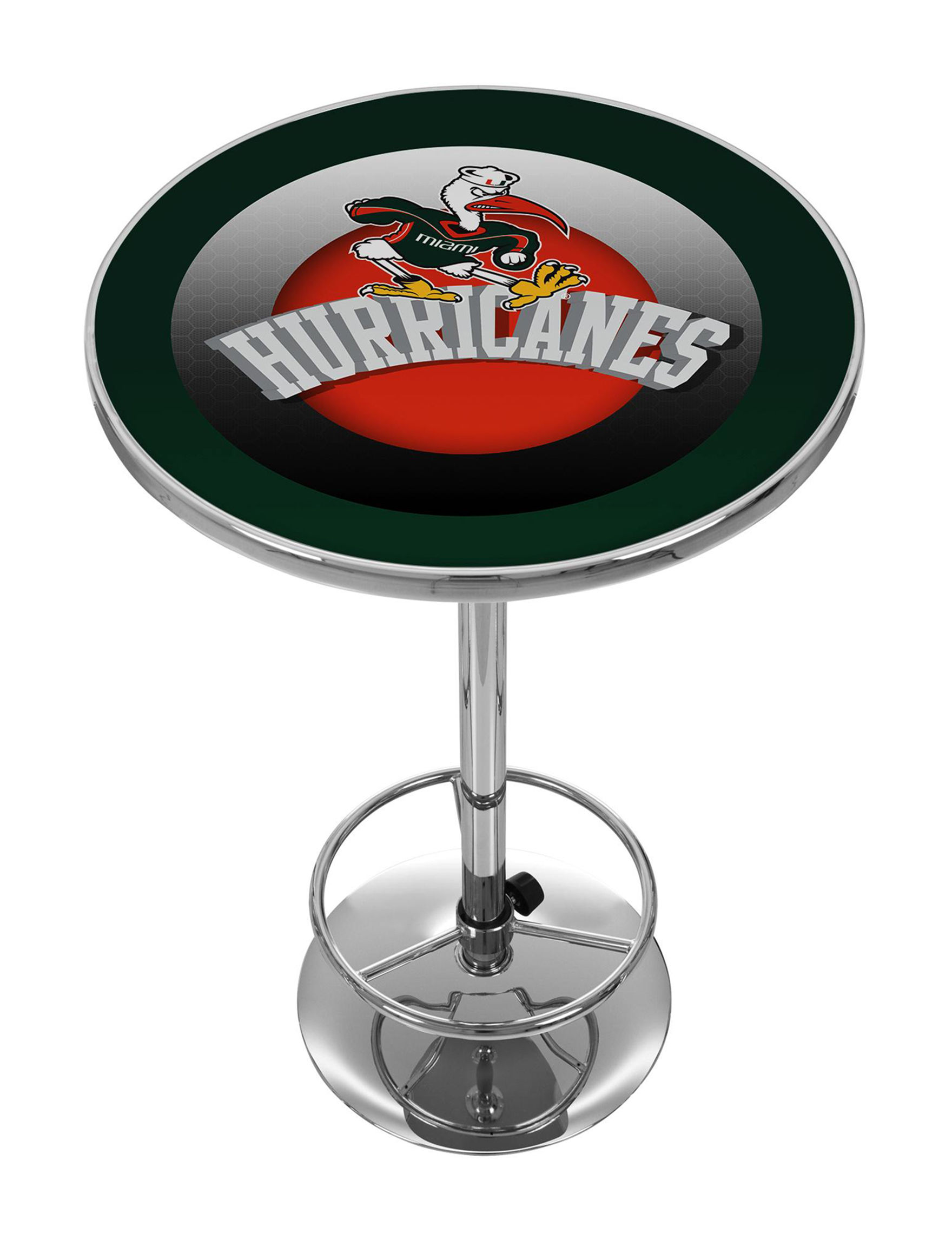 NCAA Green / White Dining Tables Kitchen & Dining Furniture