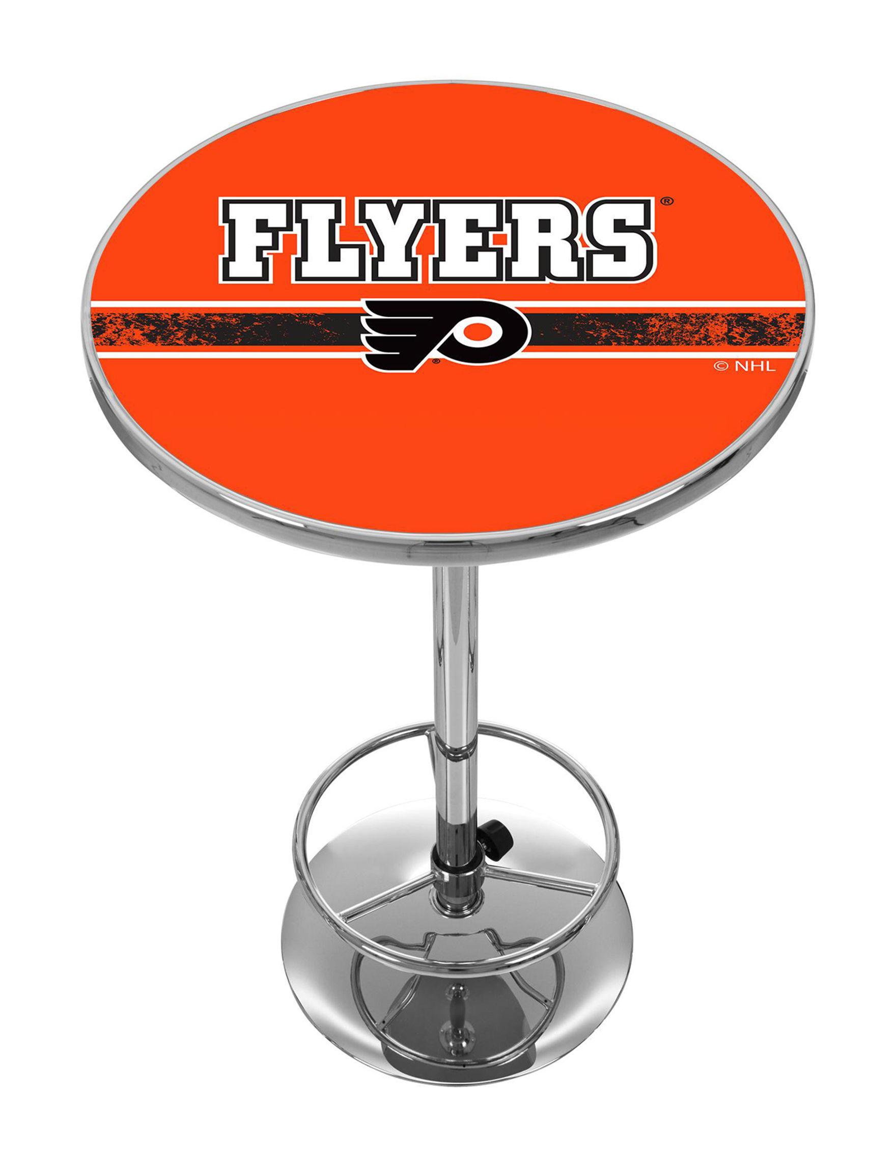NHL Orange / White Dining Tables Kitchen & Dining Furniture