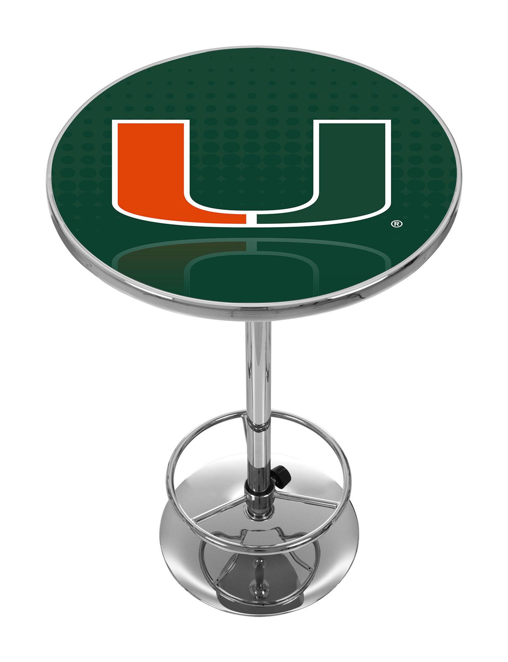 NCAA Orange / Green Dining Tables Kitchen & Dining Furniture NCAA