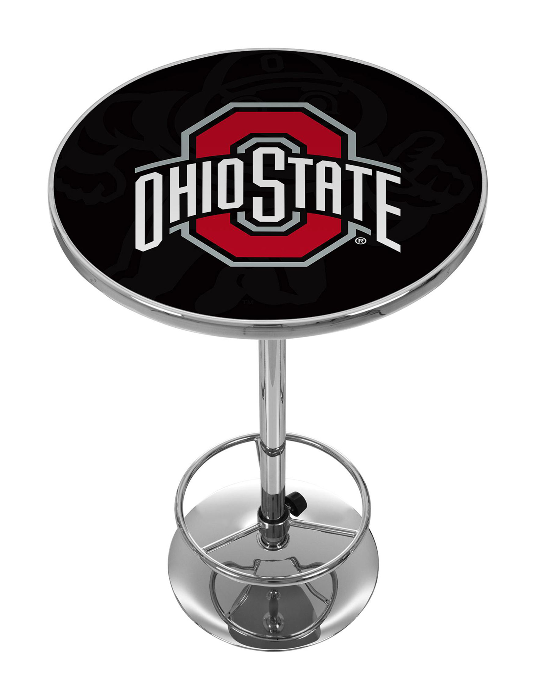NCAA Red / Black / White Dining Tables Kitchen & Dining Furniture NCAA