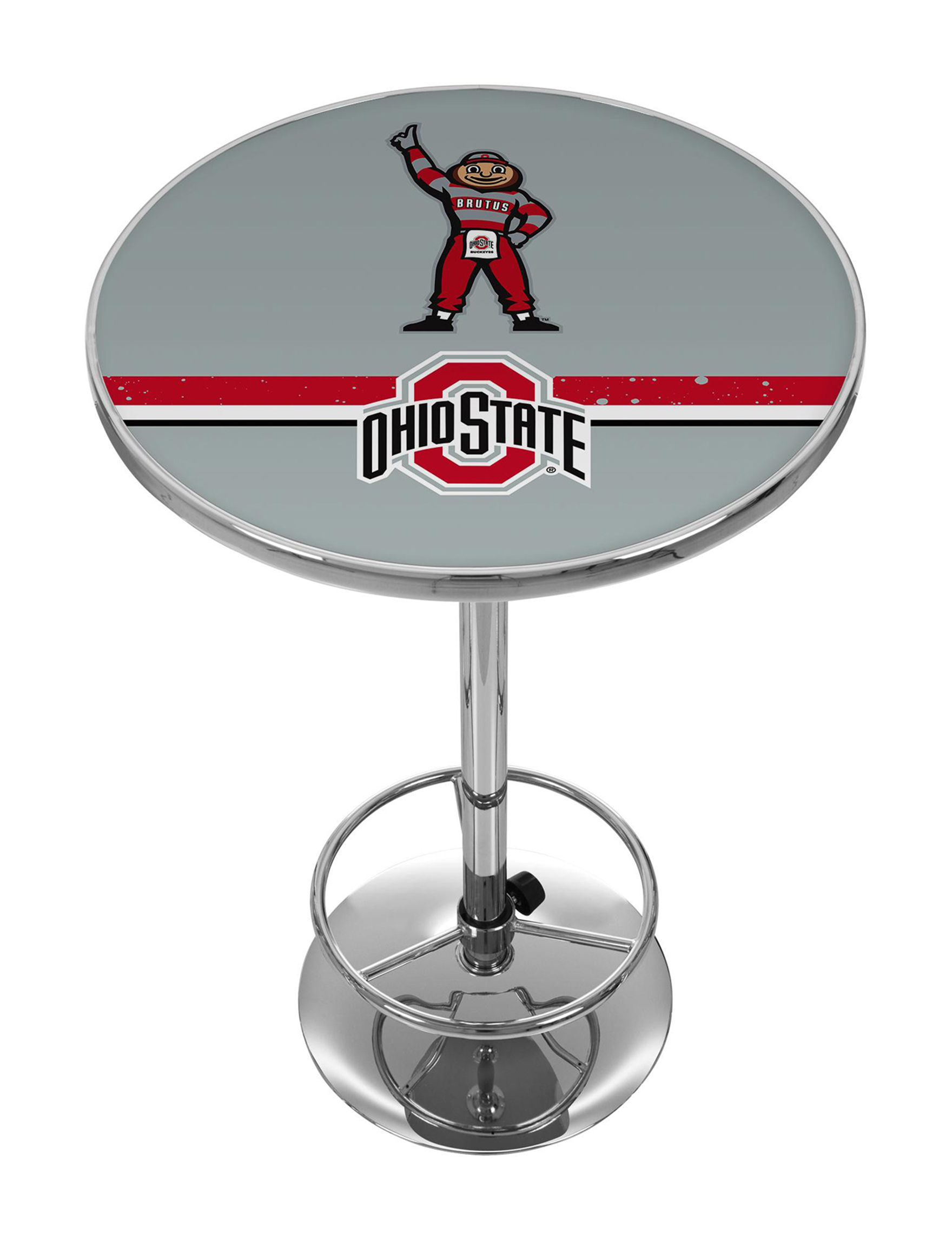 NCAA Grey / Red Dining Tables Kitchen & Dining Furniture NCAA