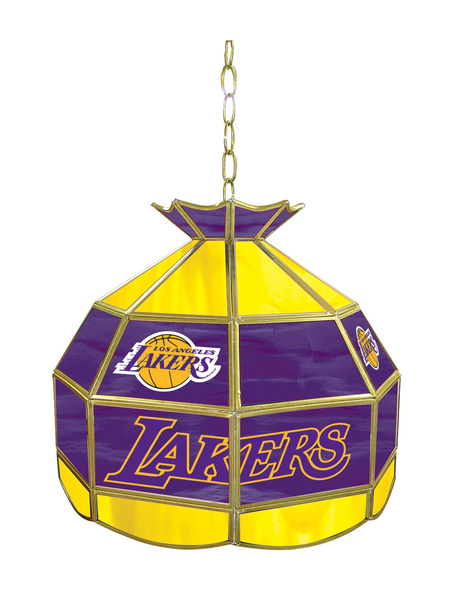 NBA Purple / Gold Chandeliers Lights & Lanterns Lighting & Lamps