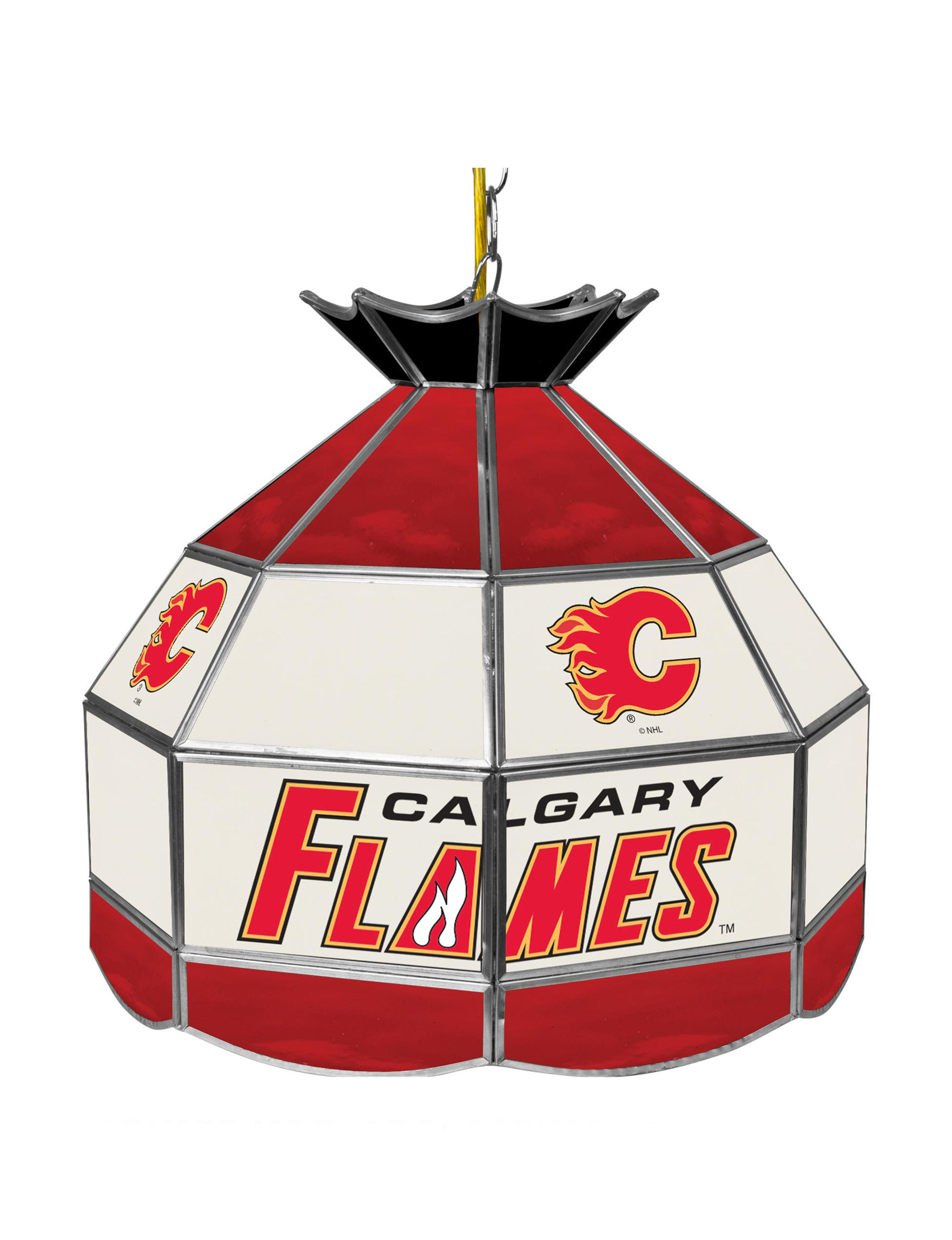 NHL Red / Black / White Chandeliers Lights & Lanterns Lighting & Lamps