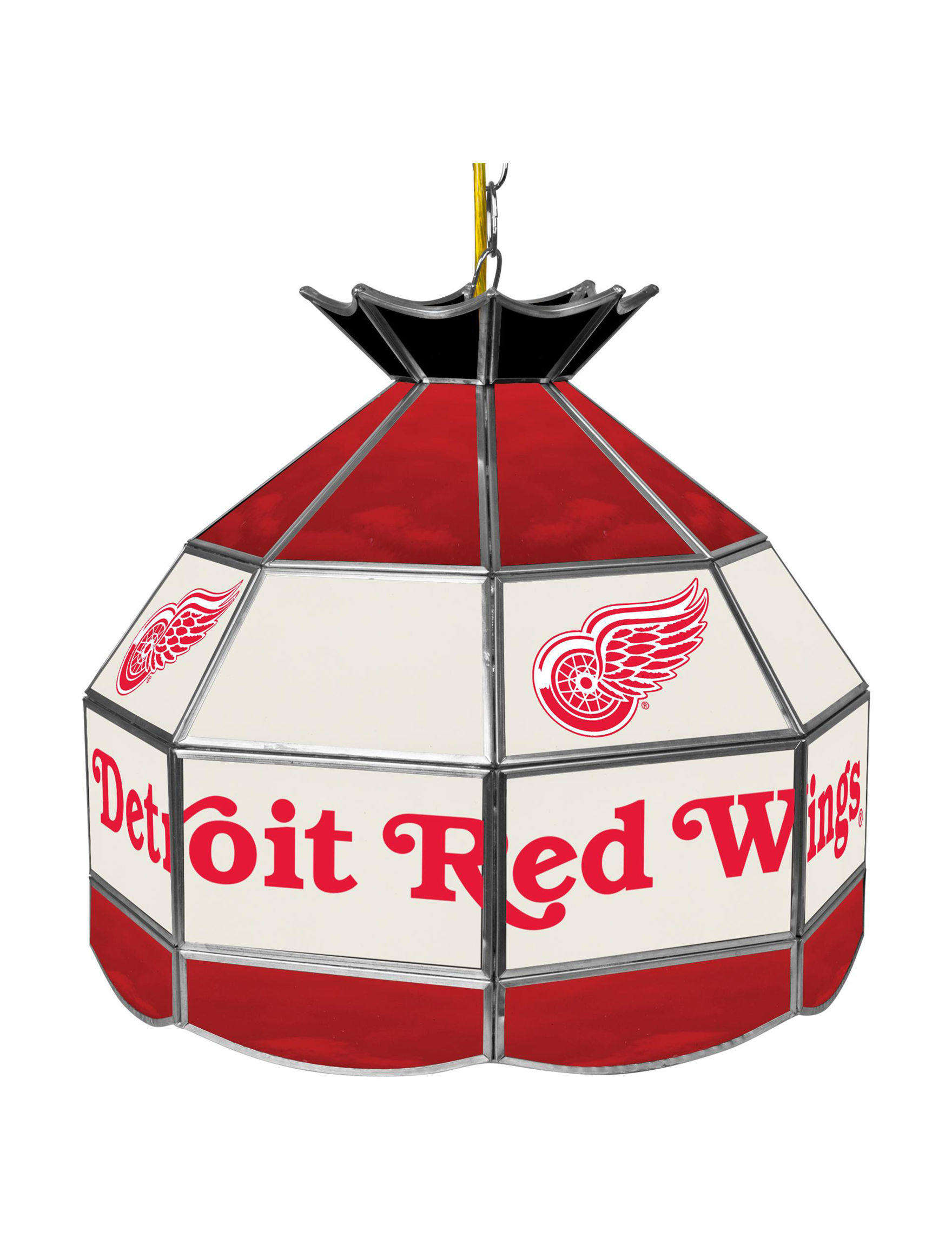 NHL Red / White Chandeliers Table Lamps Lighting & Lamps NHL