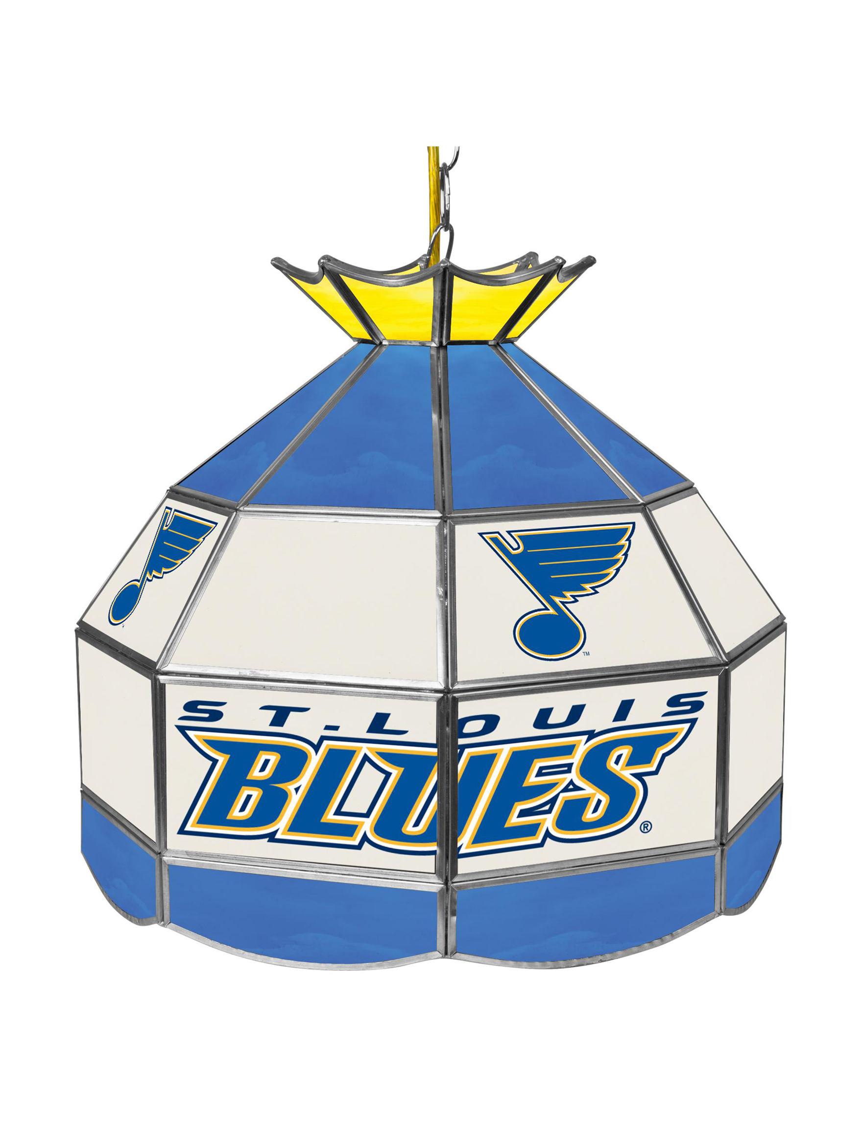 NHL Blue / White Chandeliers Lights & Lanterns Lighting & Lamps