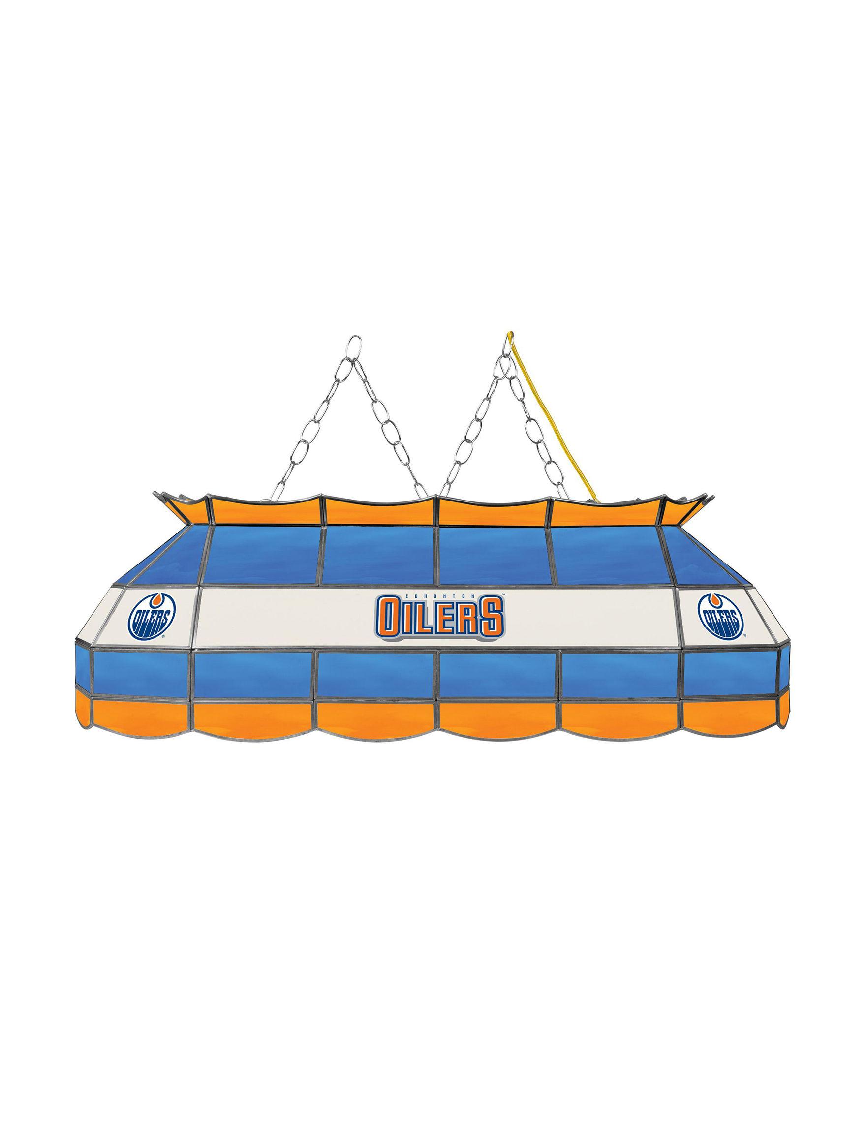 NHL Blue / Orange Chandeliers Lights & Lanterns Lighting & Lamps