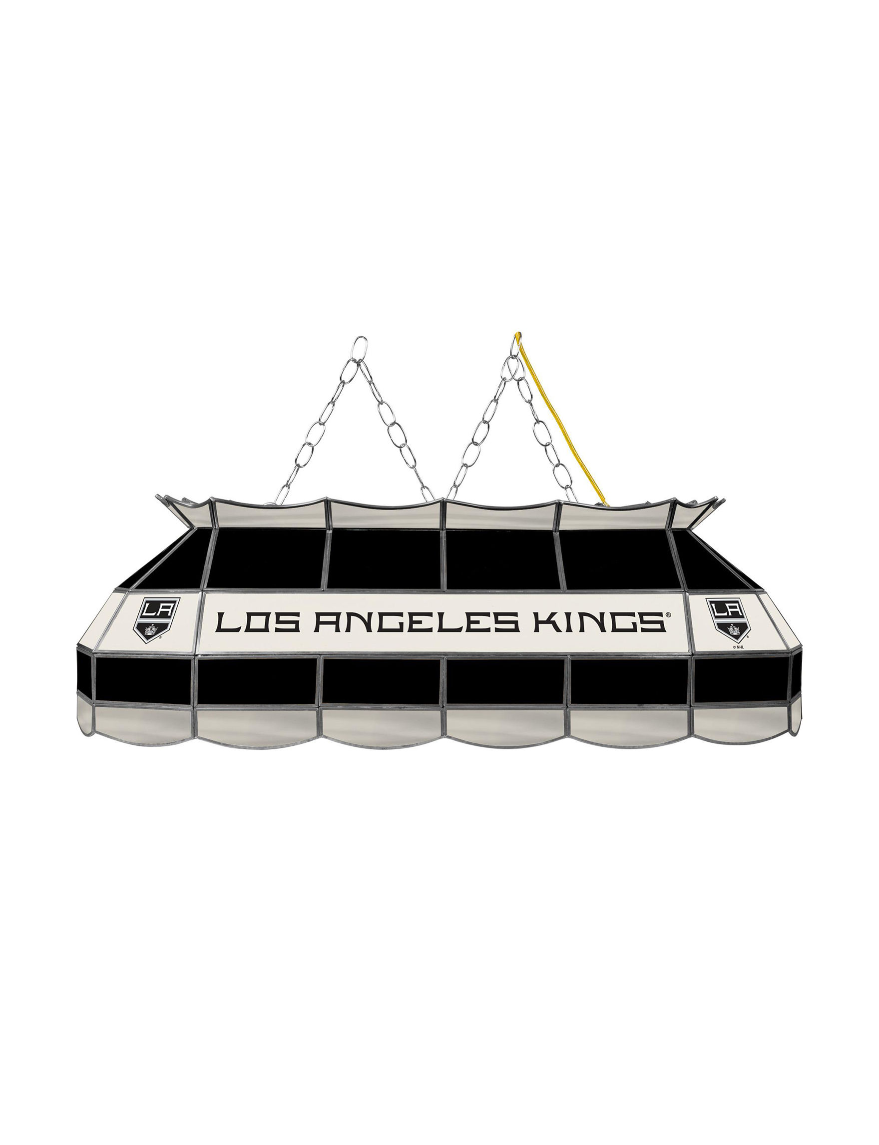 NHL Black / Silver / White Chandeliers Table Lamps Lighting & Lamps NHL
