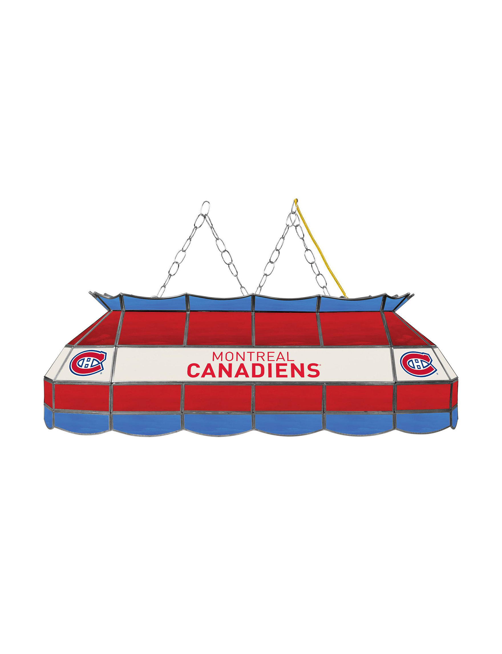 NHL Red / White / Blue Chandeliers Table Lamps Lighting & Lamps