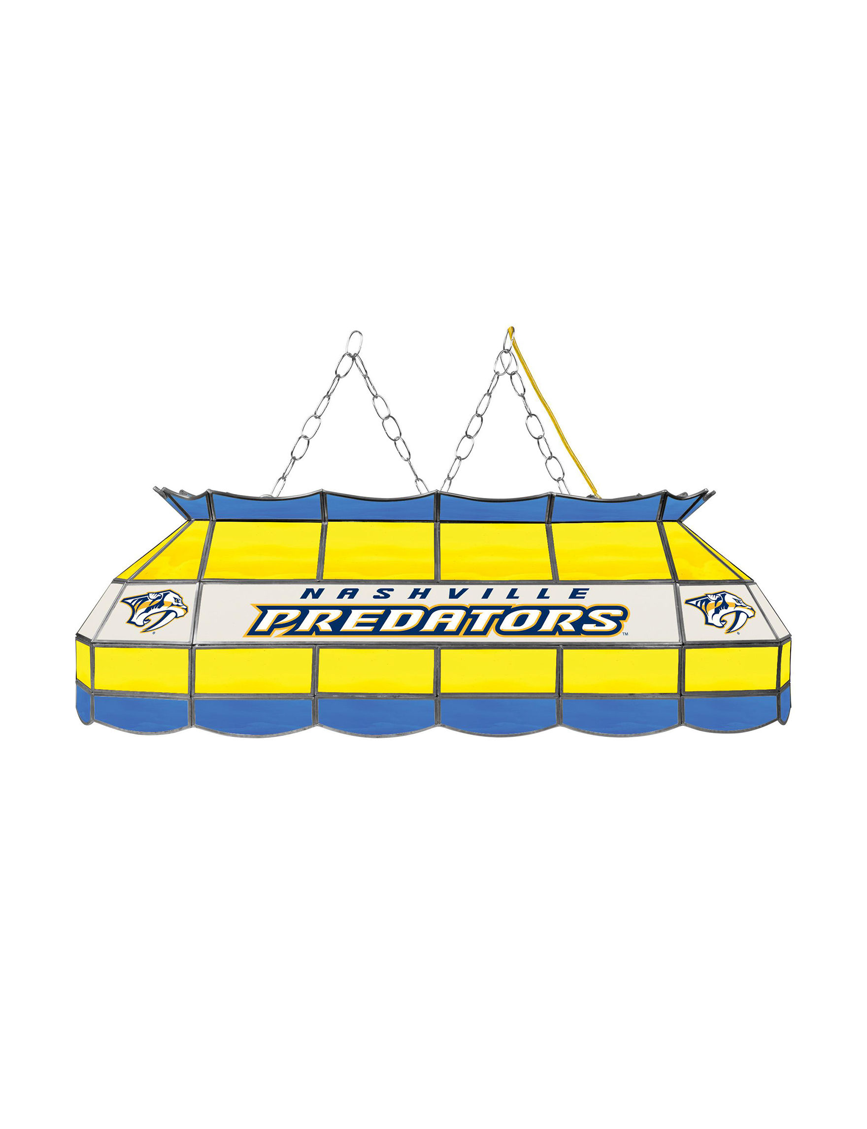 NHL Blue / Yellow Chandeliers Lights & Lanterns Lighting & Lamps