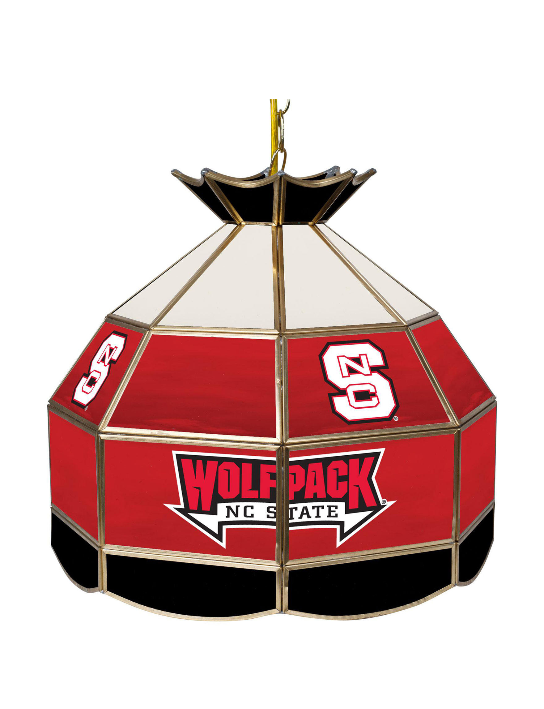NCAA Red / White Chandeliers Lights & Lanterns Lighting & Lamps