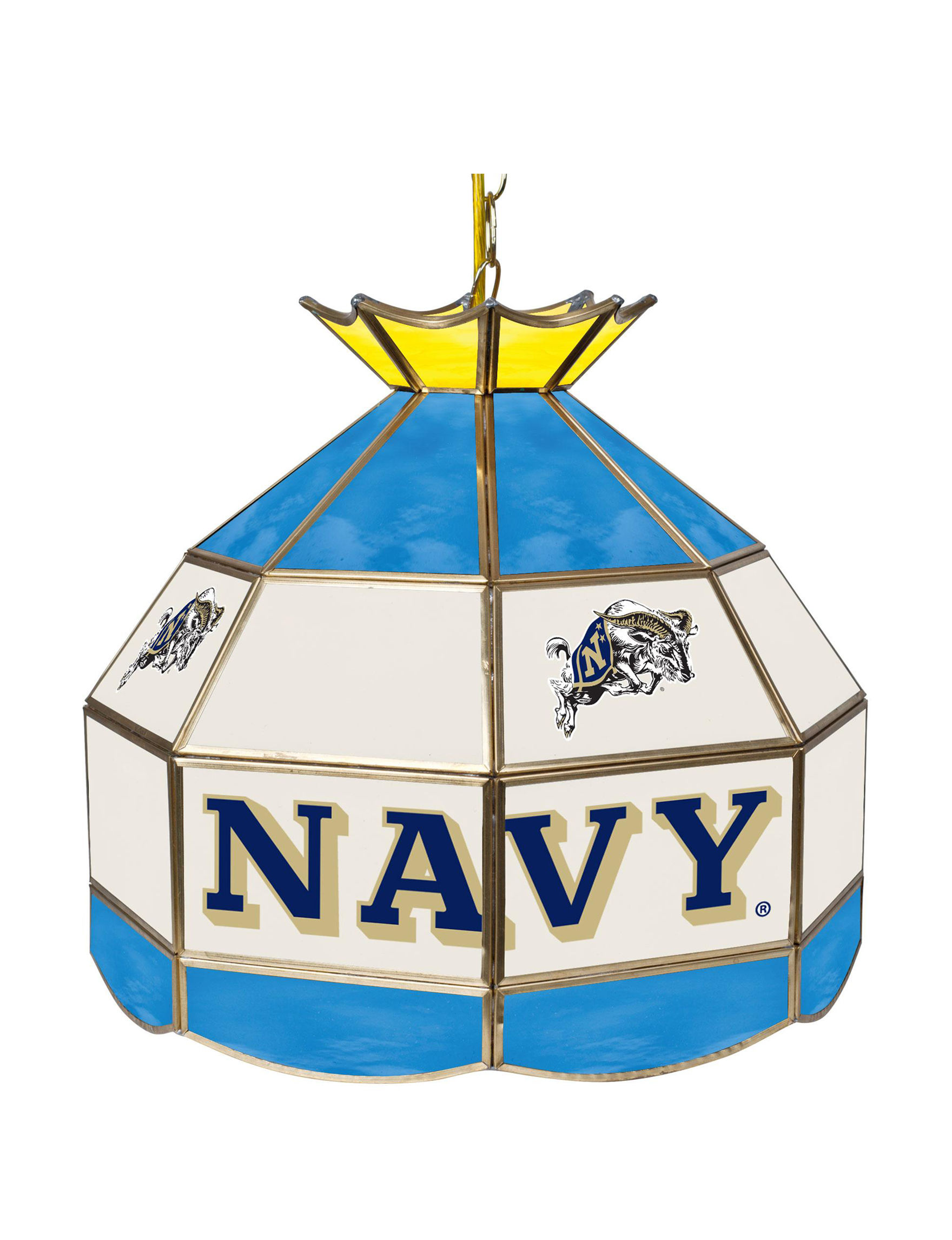 NCAA Navy / Gold Chandeliers Lights & Lanterns Lighting & Lamps