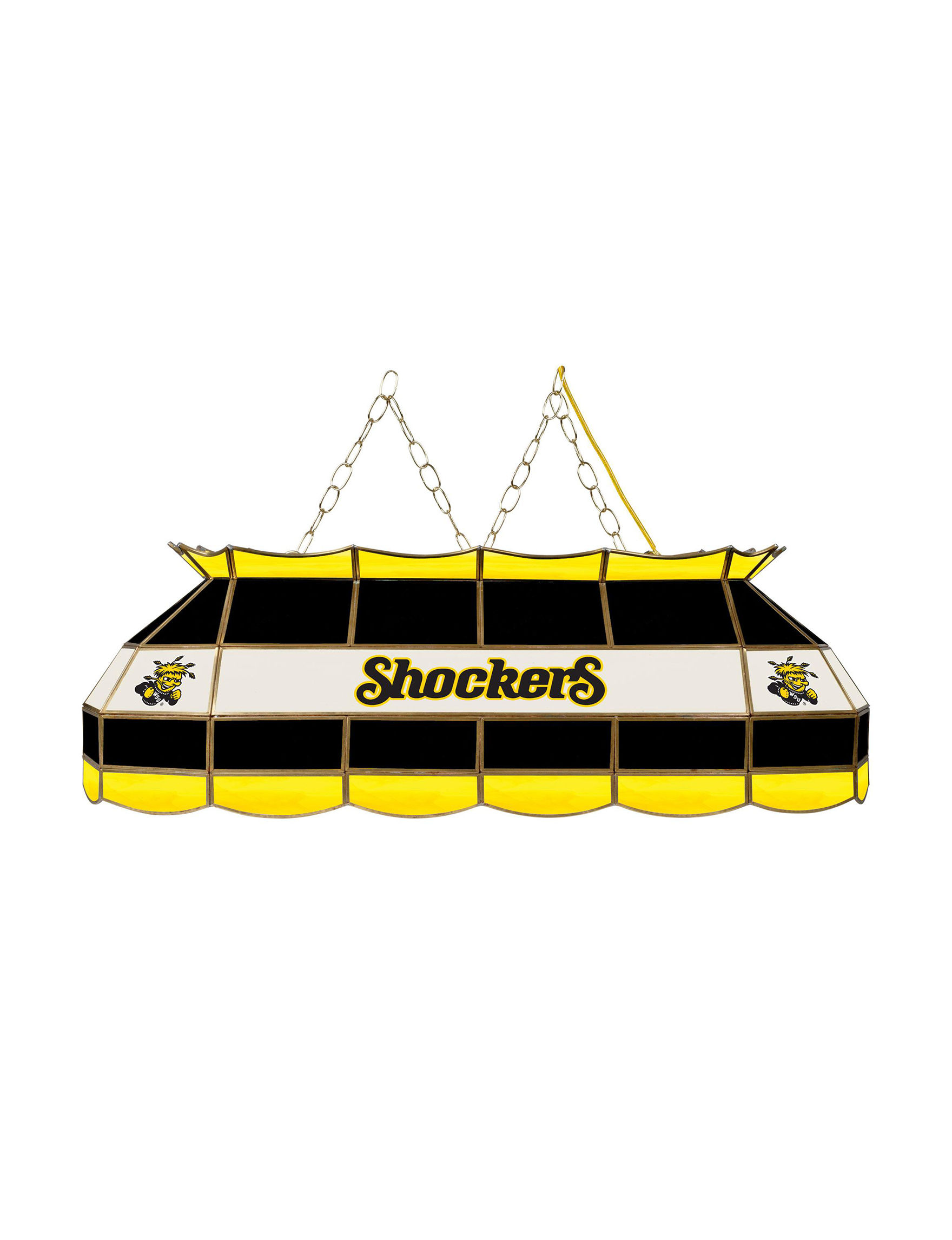 NCAA Black / Yellow Chandeliers Lights & Lanterns Lighting & Lamps