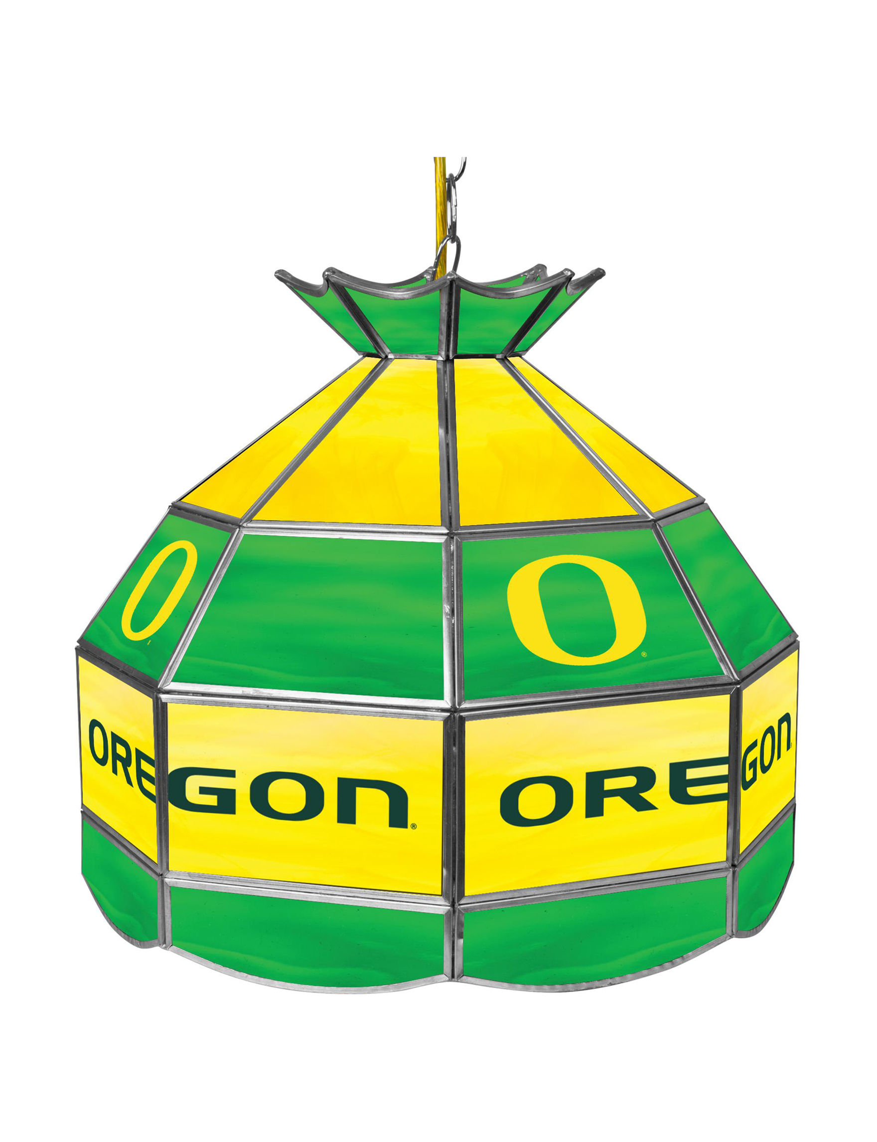 NCAA Green / Yellow Chandeliers Lights & Lanterns Lighting & Lamps