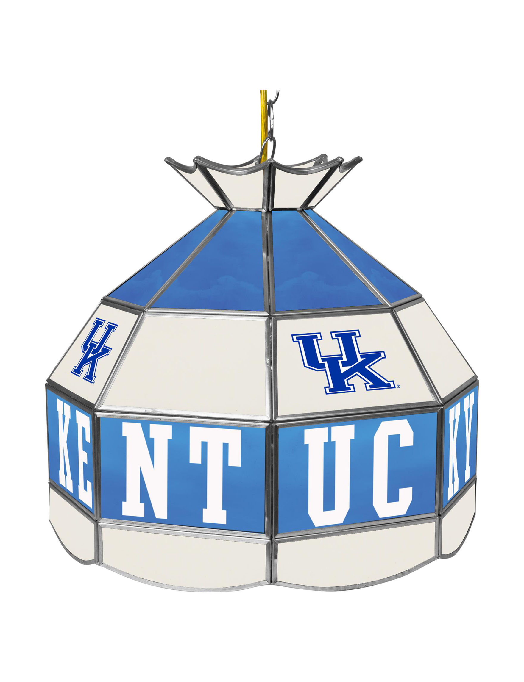NCAA Blue / White Chandeliers Table Lamps Lighting & Lamps NCAA