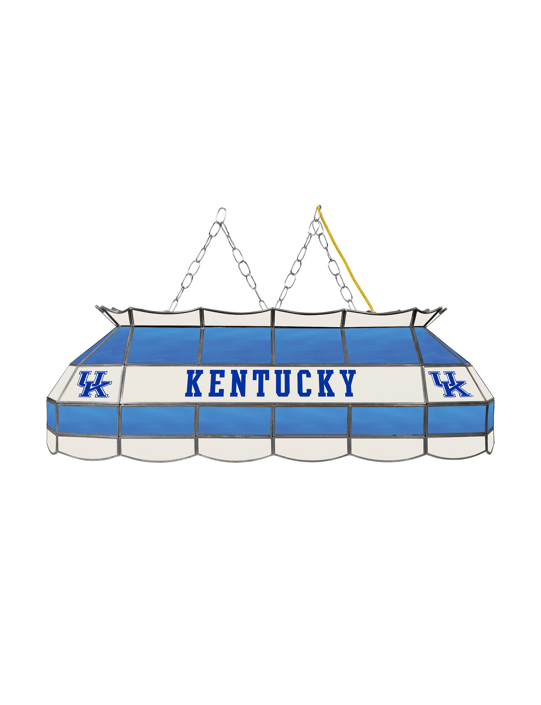 NCAA Blue / White Chandeliers Lights & Lanterns Lighting & Lamps