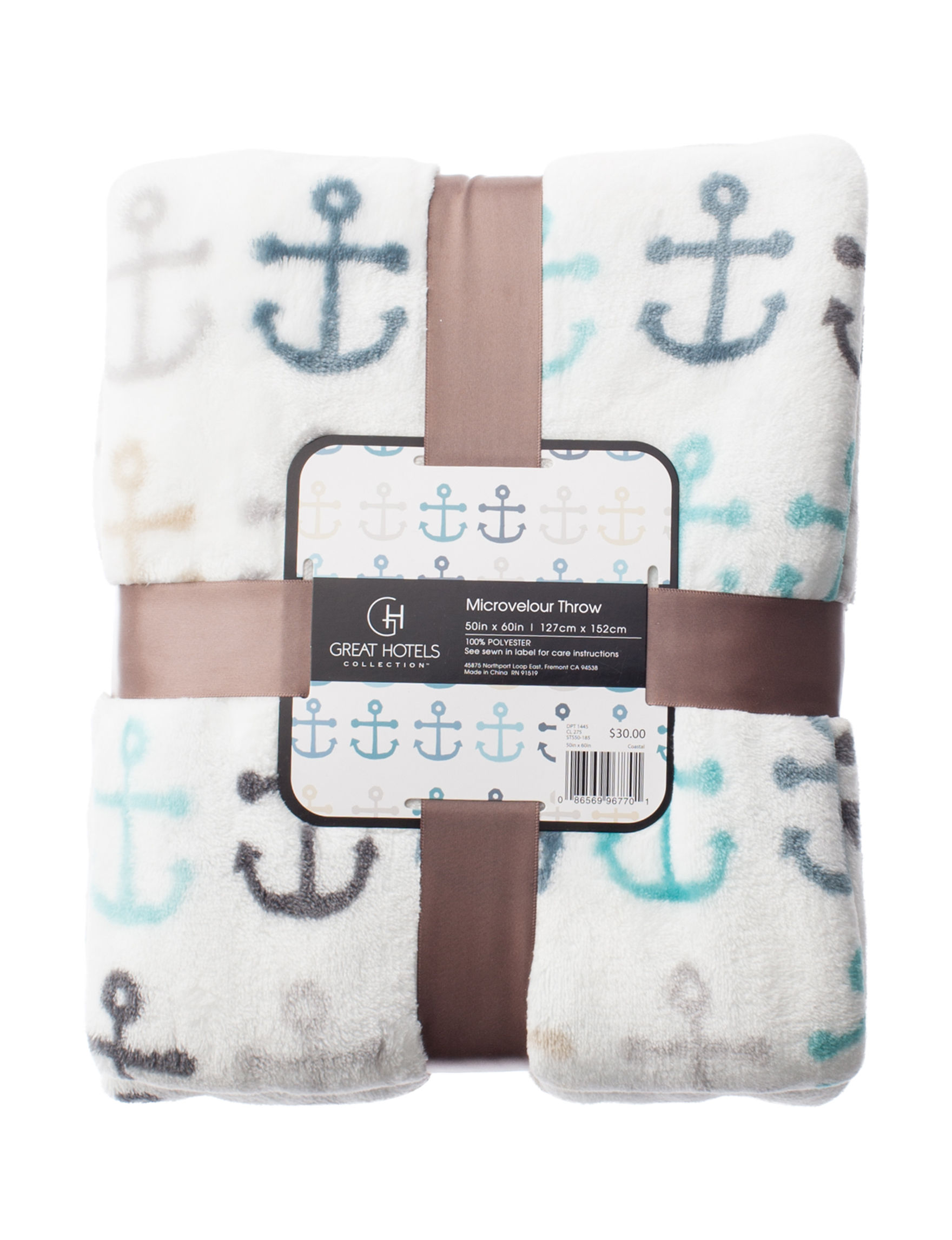 Great Hotels Collection White Multi Blankets & Throws