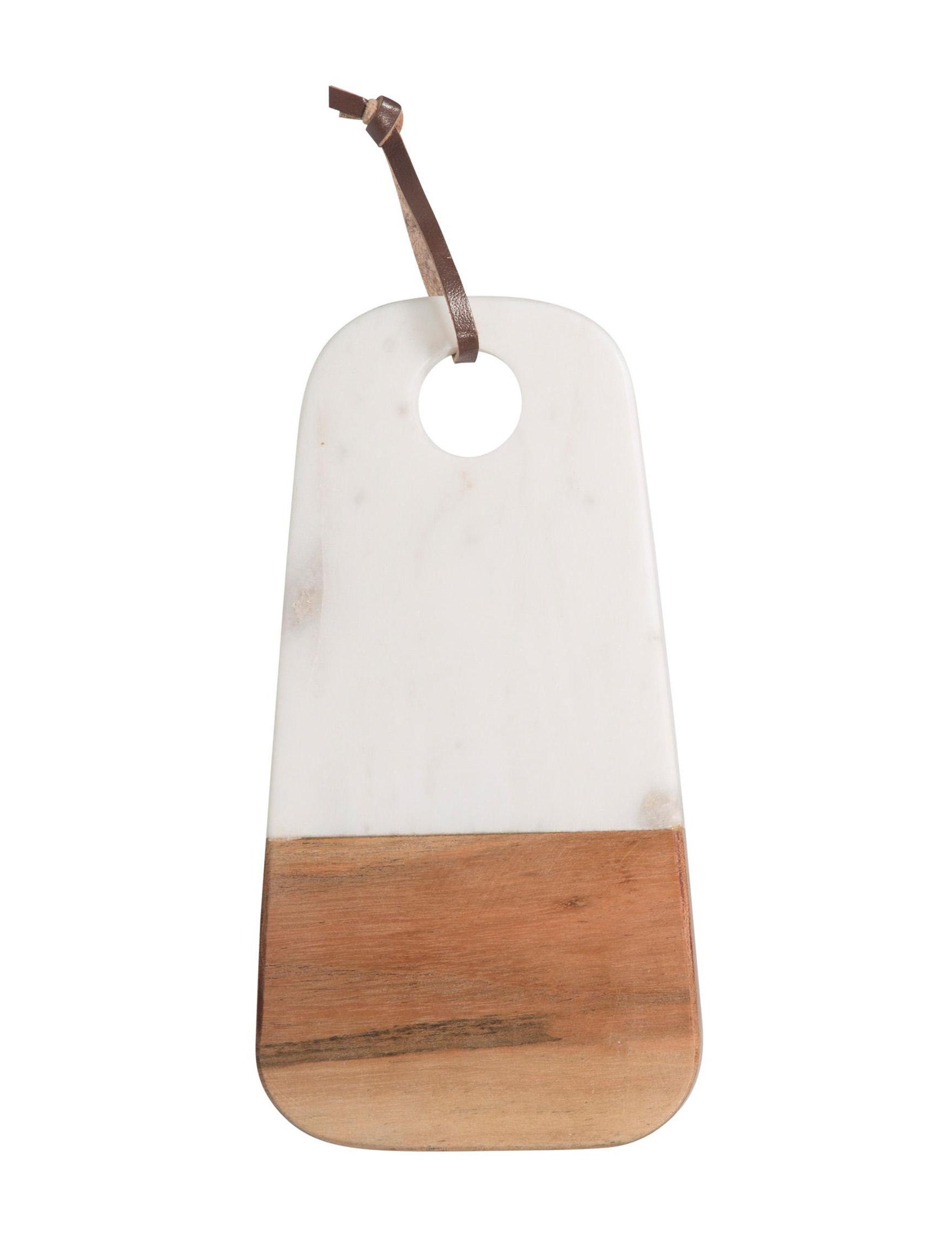 Home Essentials White / Brown Serveware