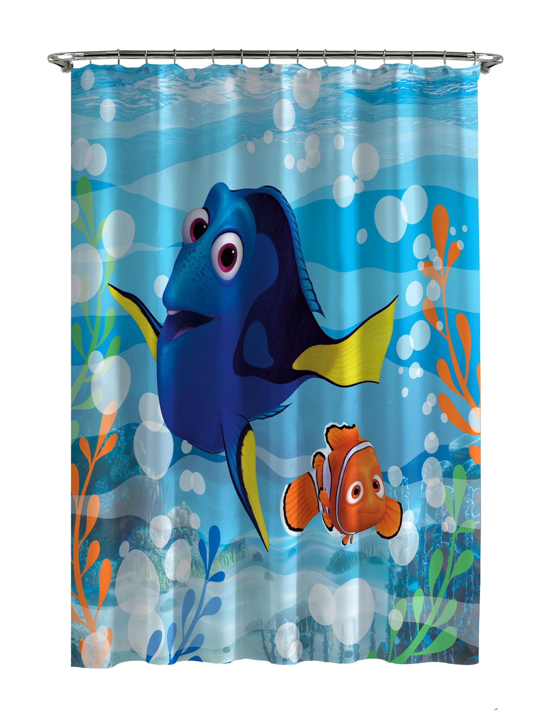 Disney Blue / Multi Bath Accessory Sets Shower Curtains & Hooks