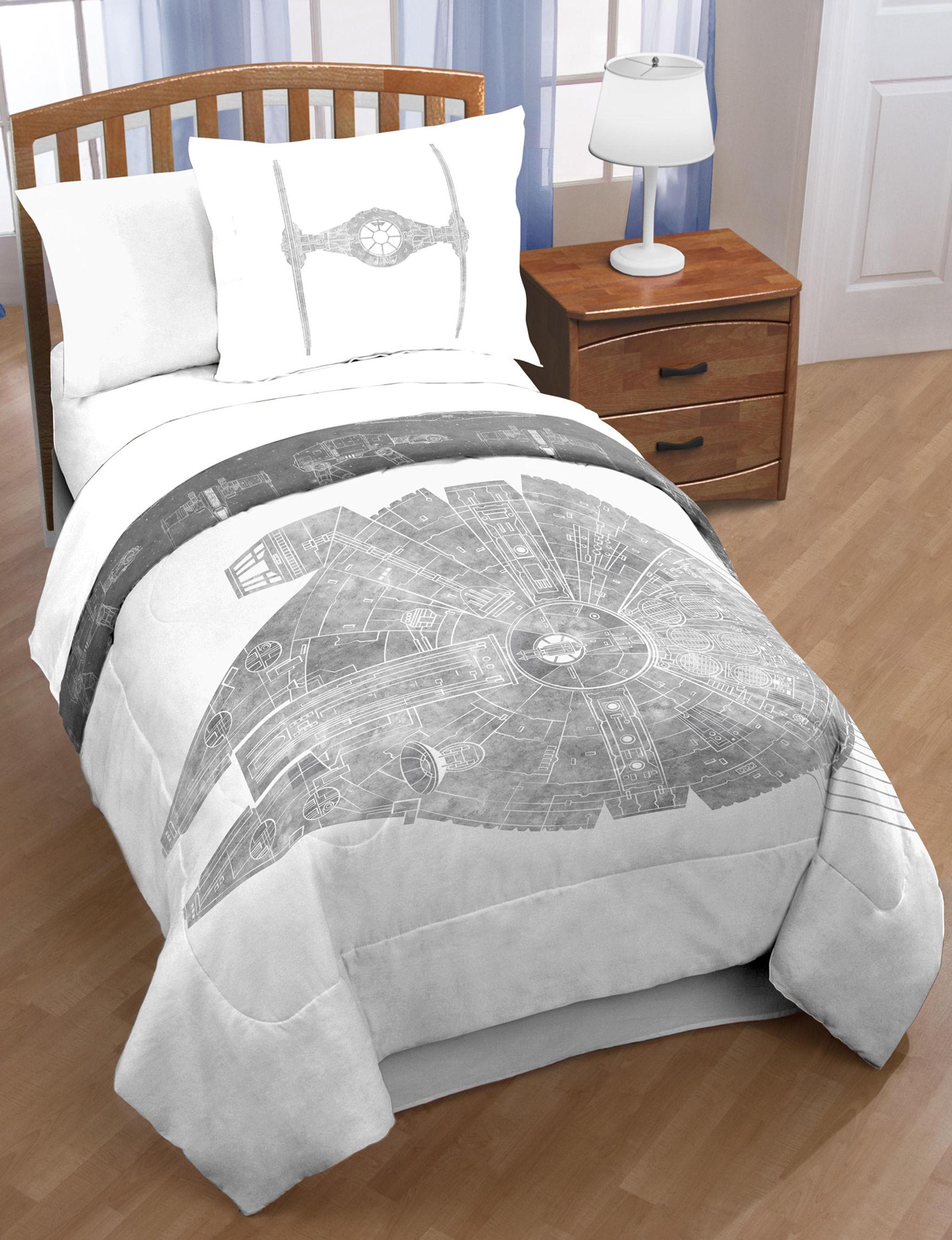 Hasbro Grey / White Comforters & Comforter Sets