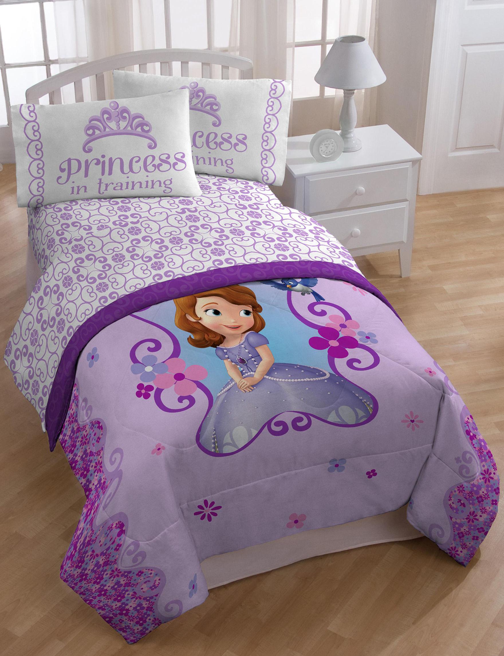 Disney Purple Multi Sheets & Pillowcases