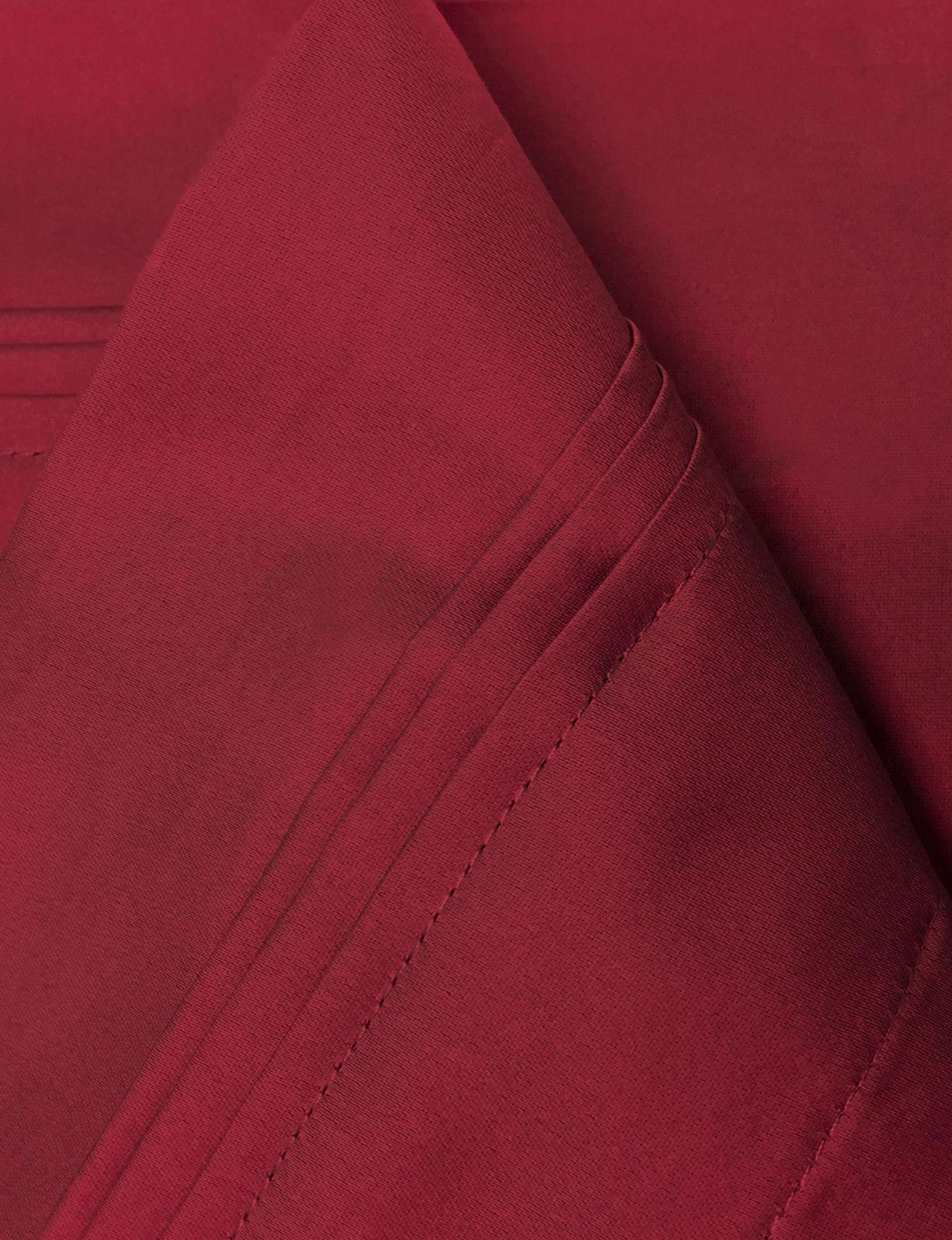 Superior Burgundy Sheets & Pillowcases