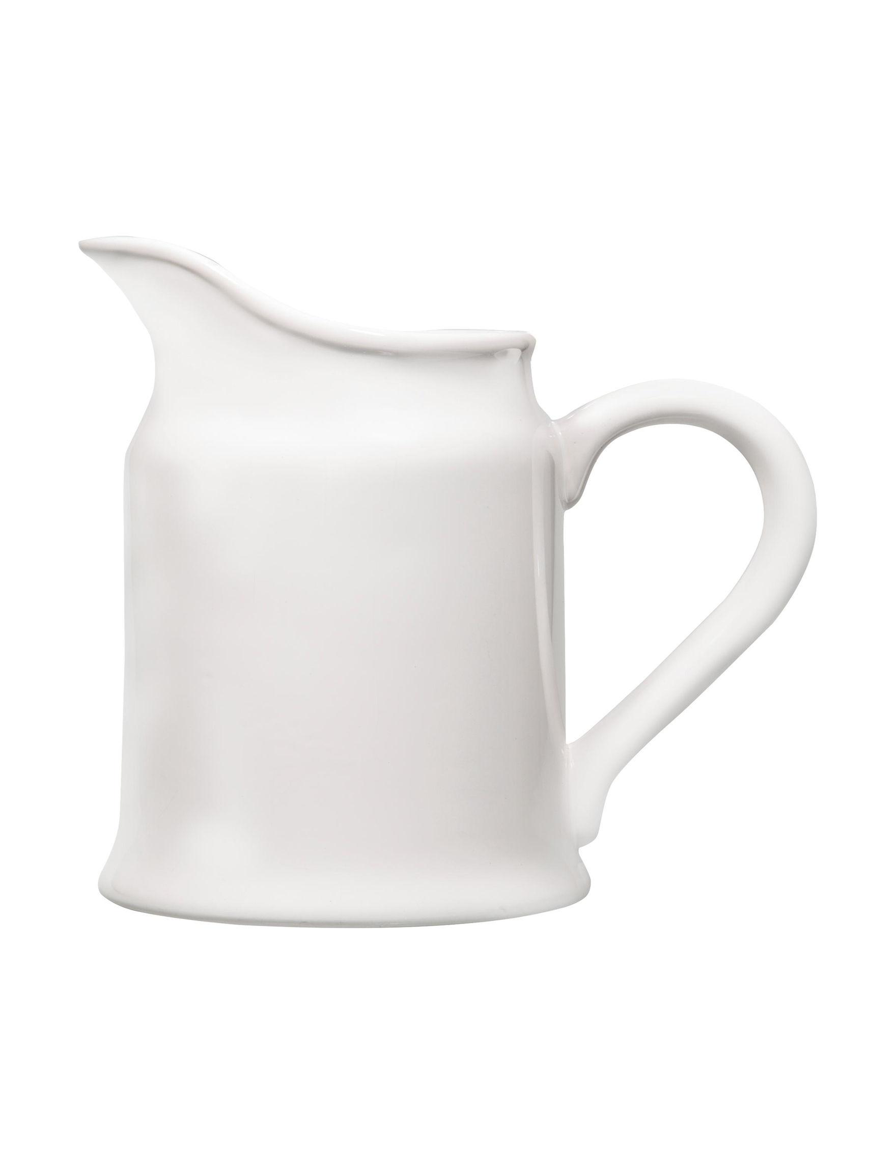 Home Essentials White / Silver Serveware
