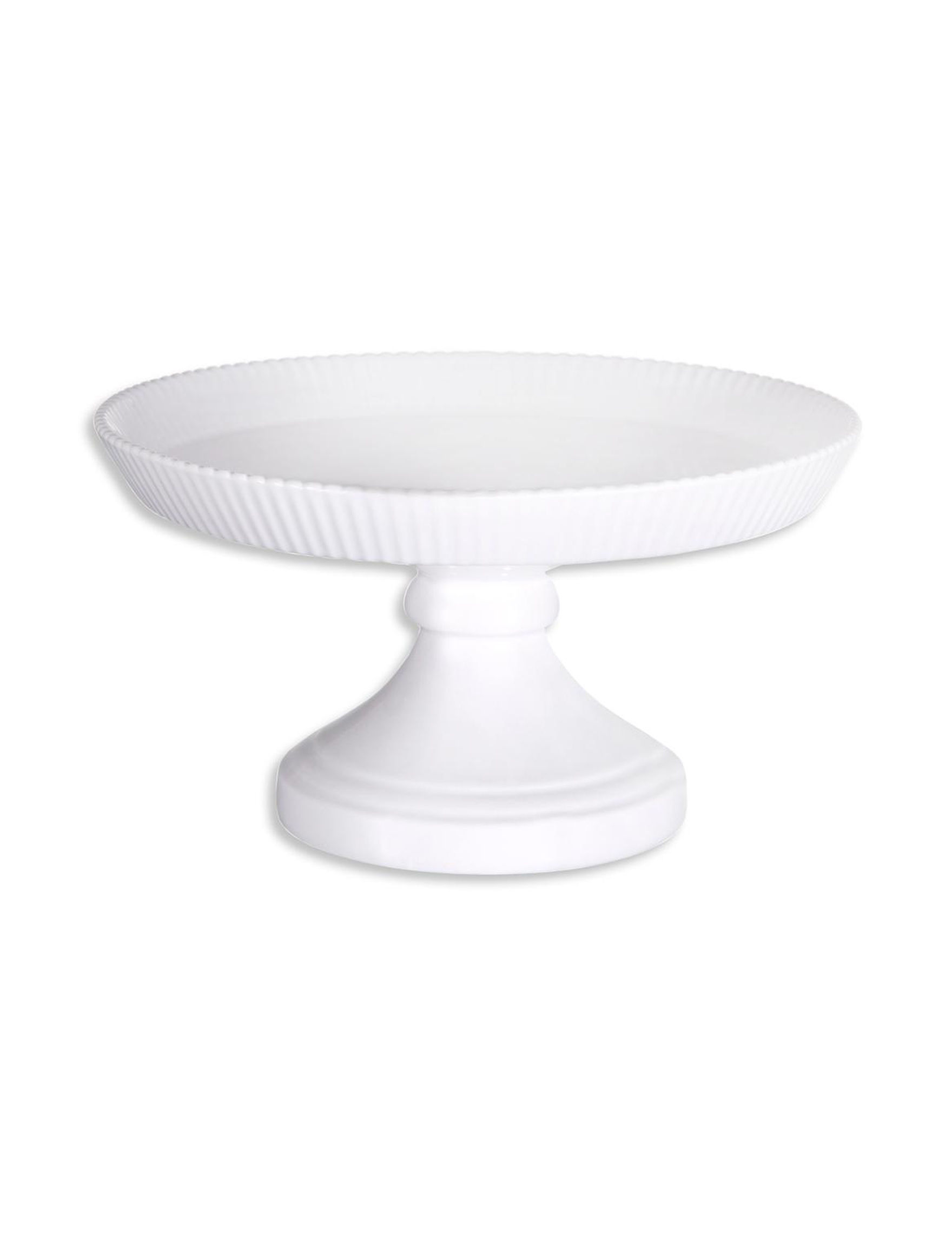 Home Essentials White / Silver Cake Stands & Tiered Servers Serveware