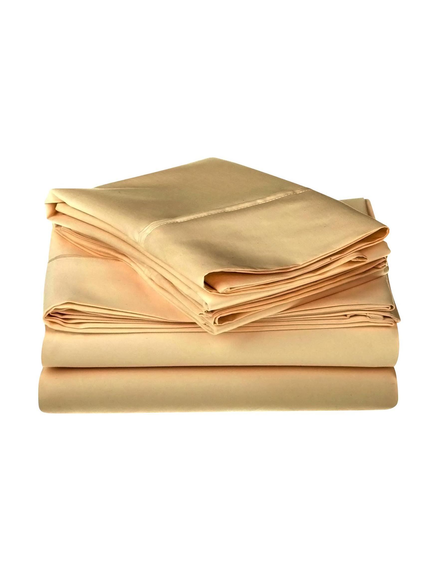 Superior Gold Sheets & Pillowcases