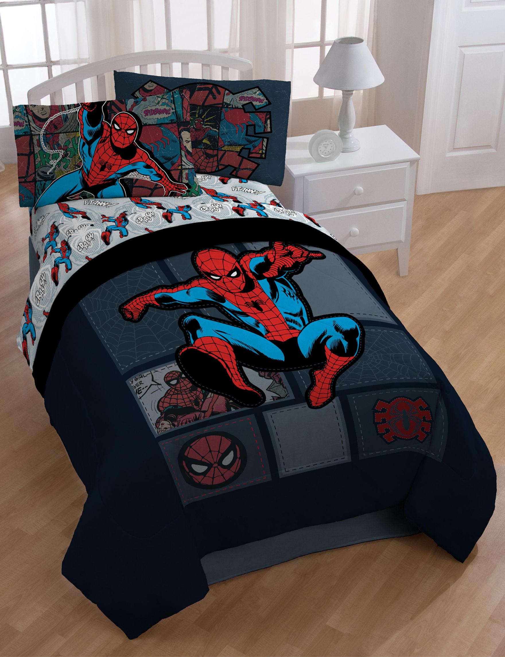 Marvel Black / Red Comforters & Comforter Sets