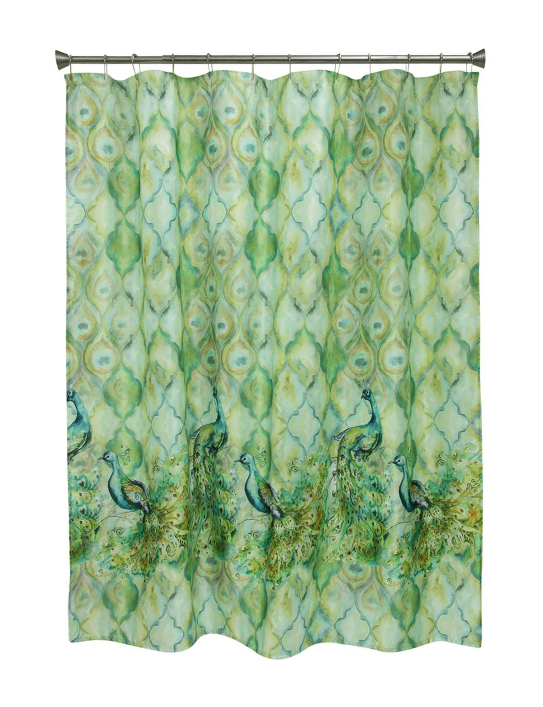 Bacova Guild Green Shower Curtains & Hooks