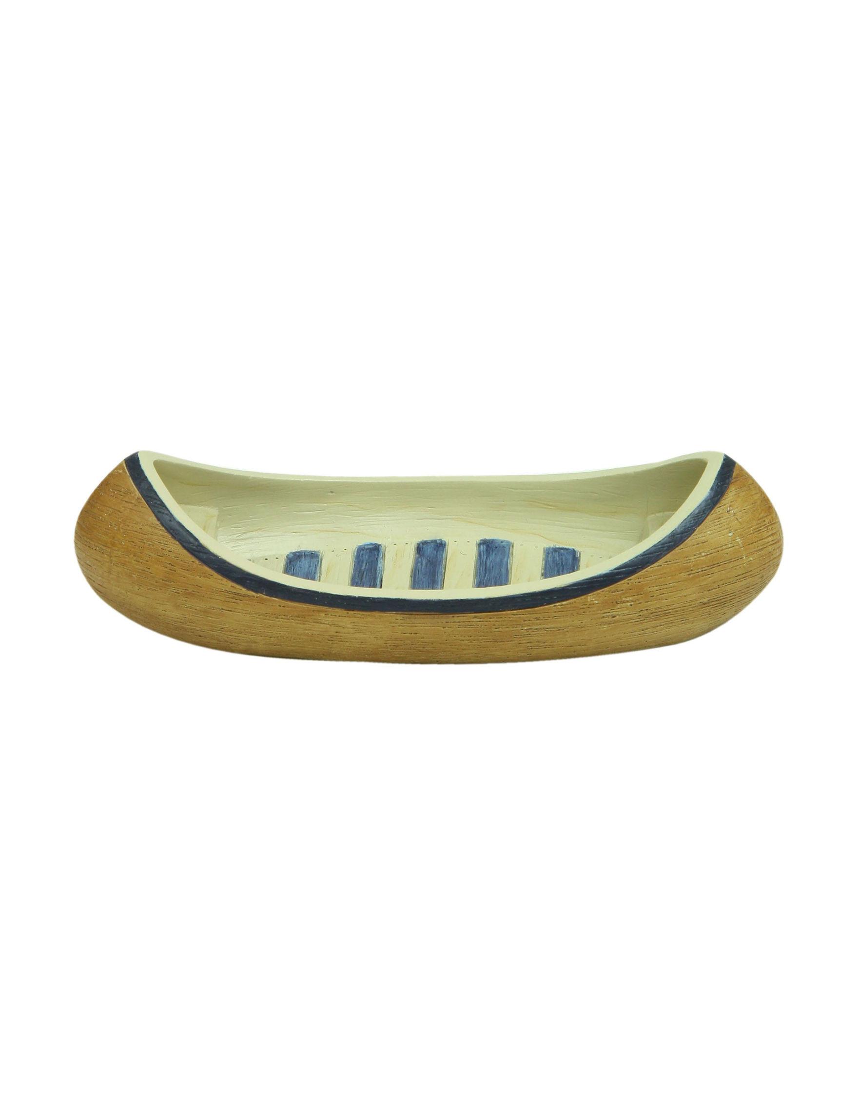 Bacova Guild Brown / Blue Soap Dishes Bath Accessories