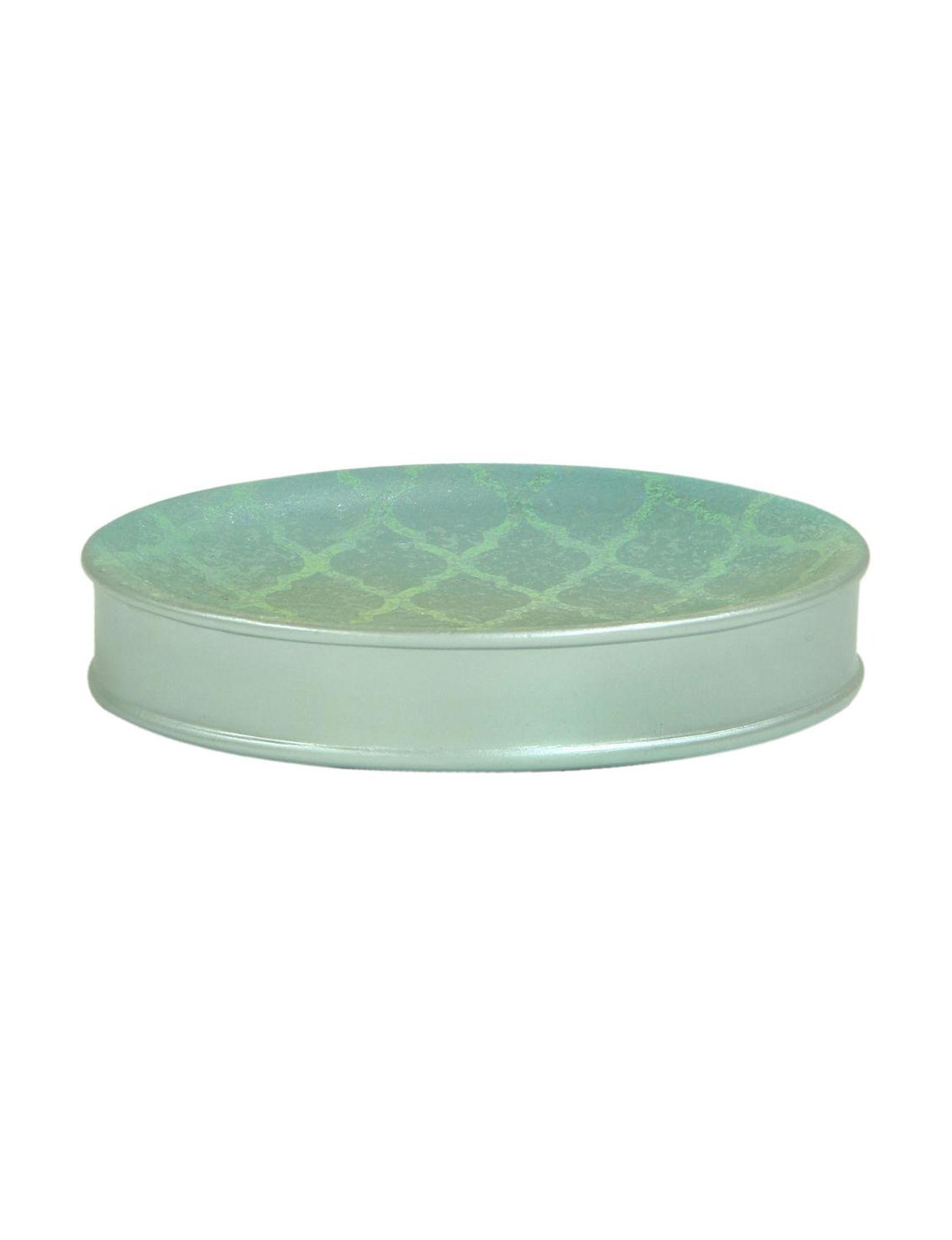 Bacova Guild Blue Soap Dishes Bath Accessories