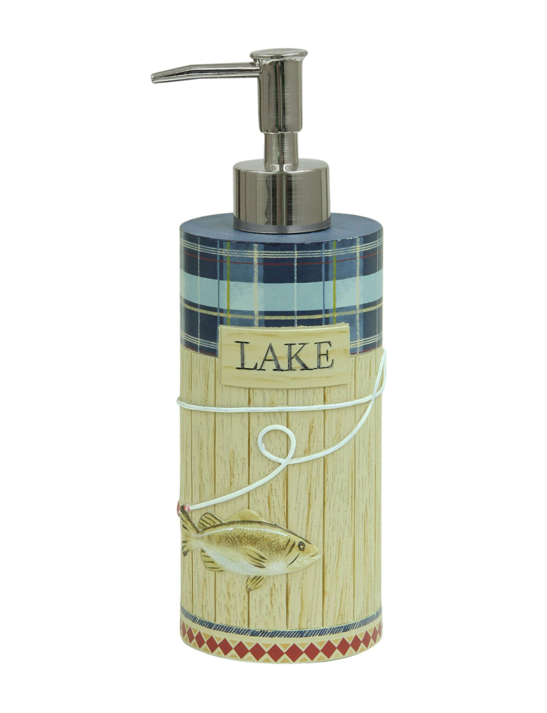 Bacova Guild Beige Soap & Lotion Dispensers Bath Accessories