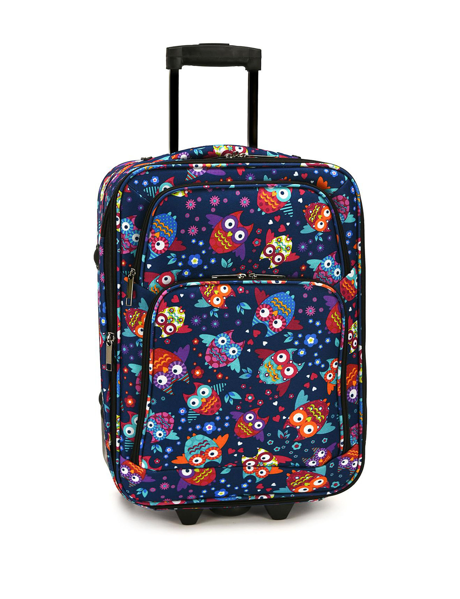 Elite Luggage Blue Multi Carry On Luggage