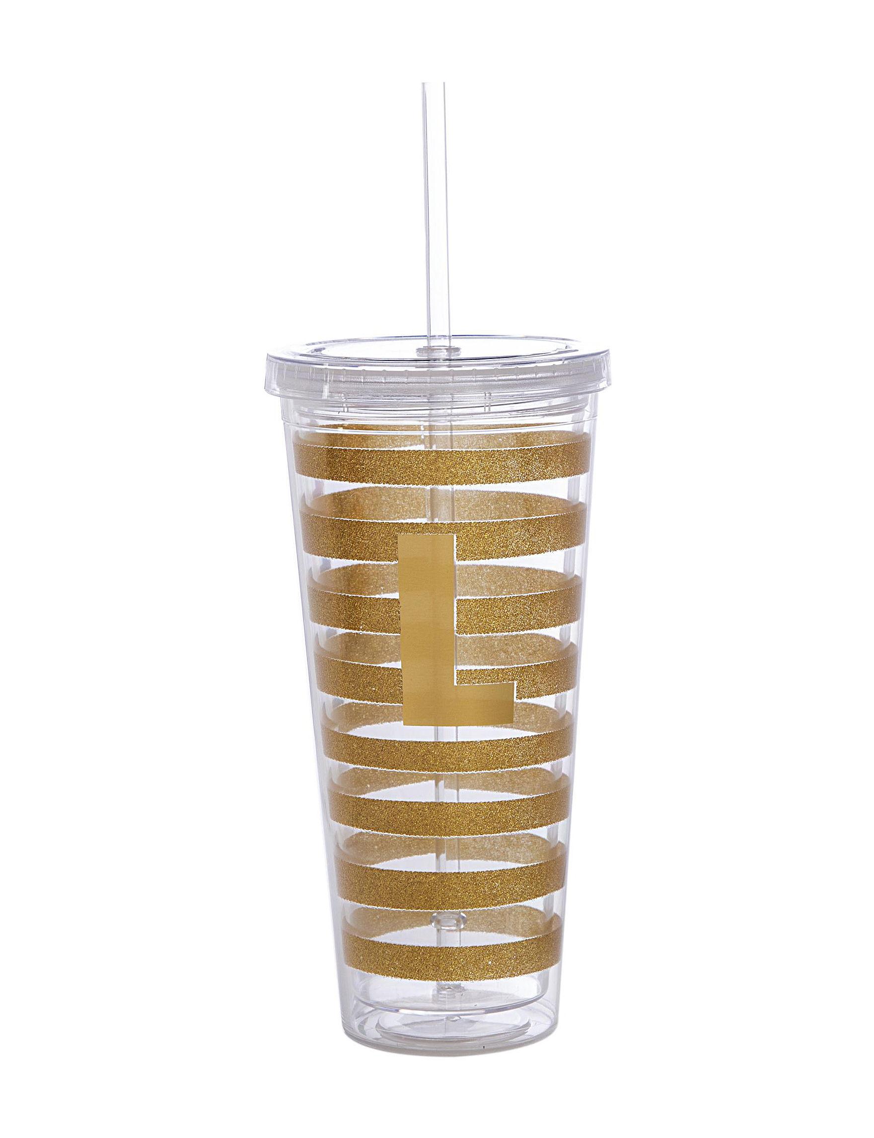 Formation Black Everyday Cups & Glasses Monogram Drinkware