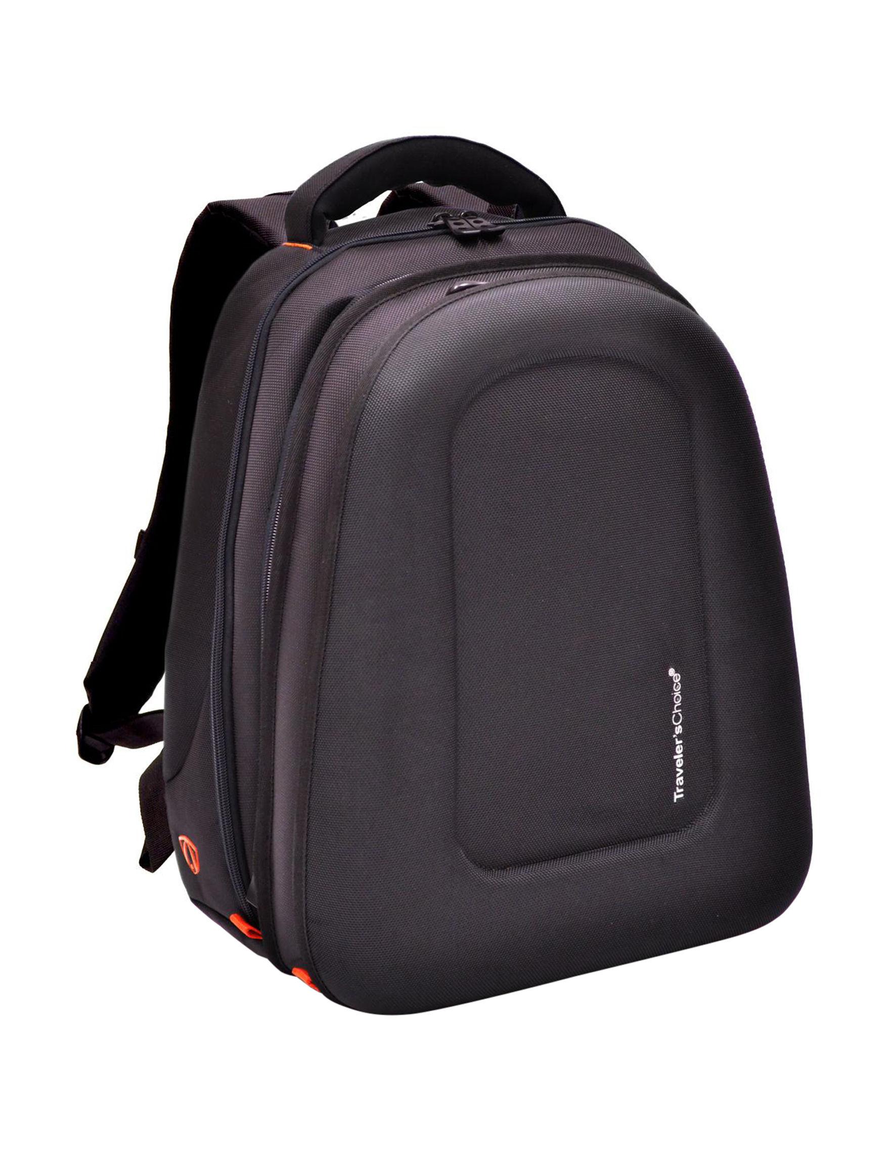 Travelers Choice Black Bookbags & Backpacks Weekend Bags