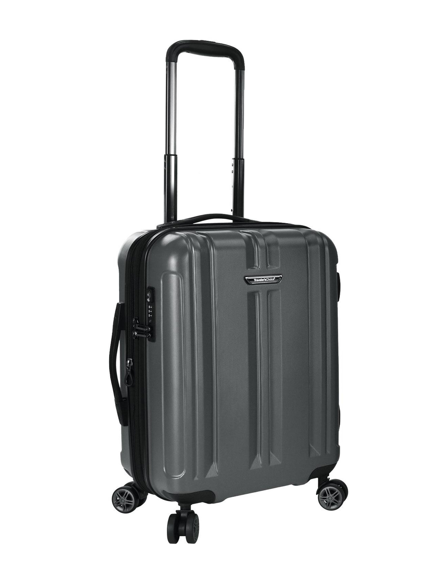 Travelers Choice Grey Carry On Luggage Upright Spinners