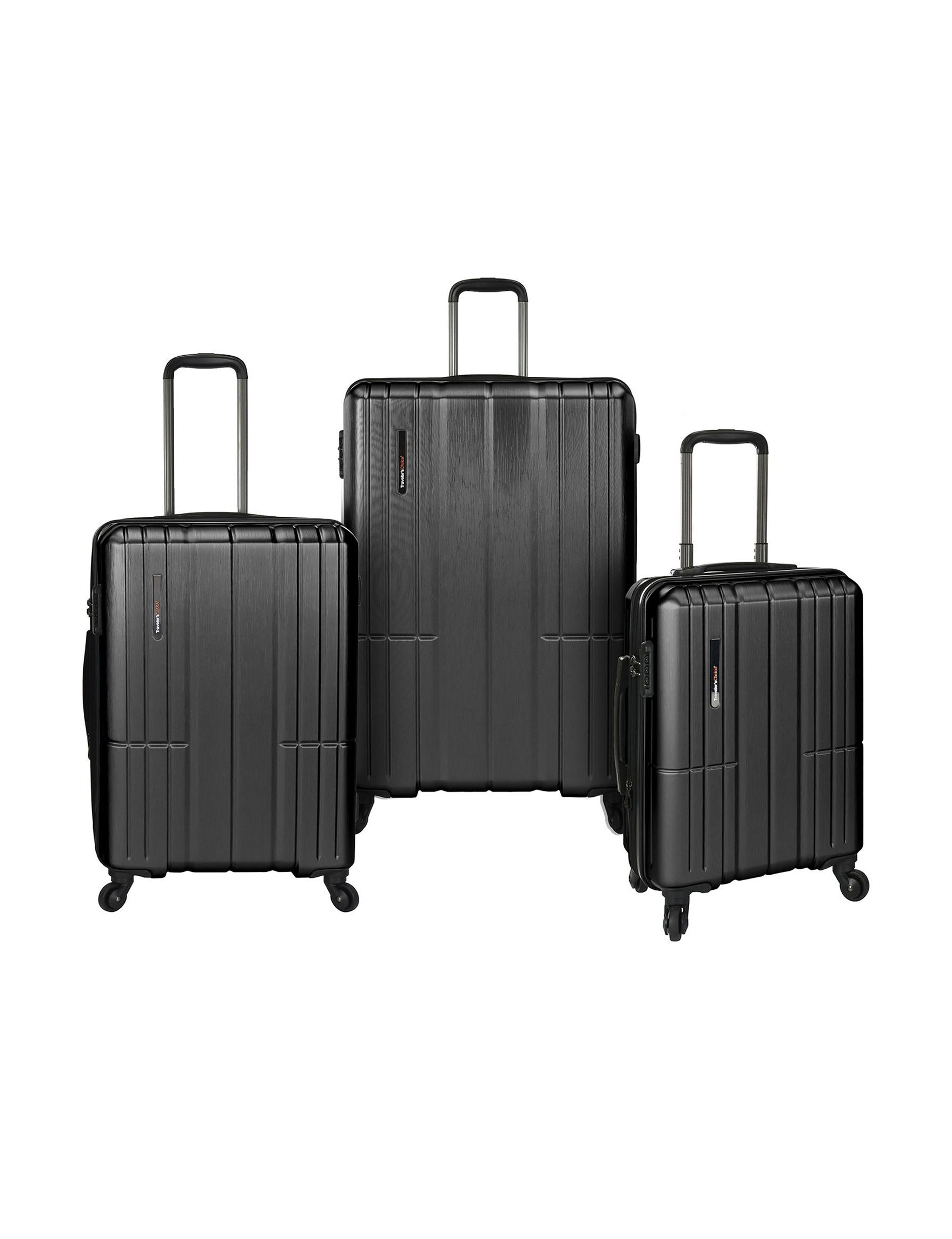 Travelers Choice Grey Luggage Sets Upright Spinners