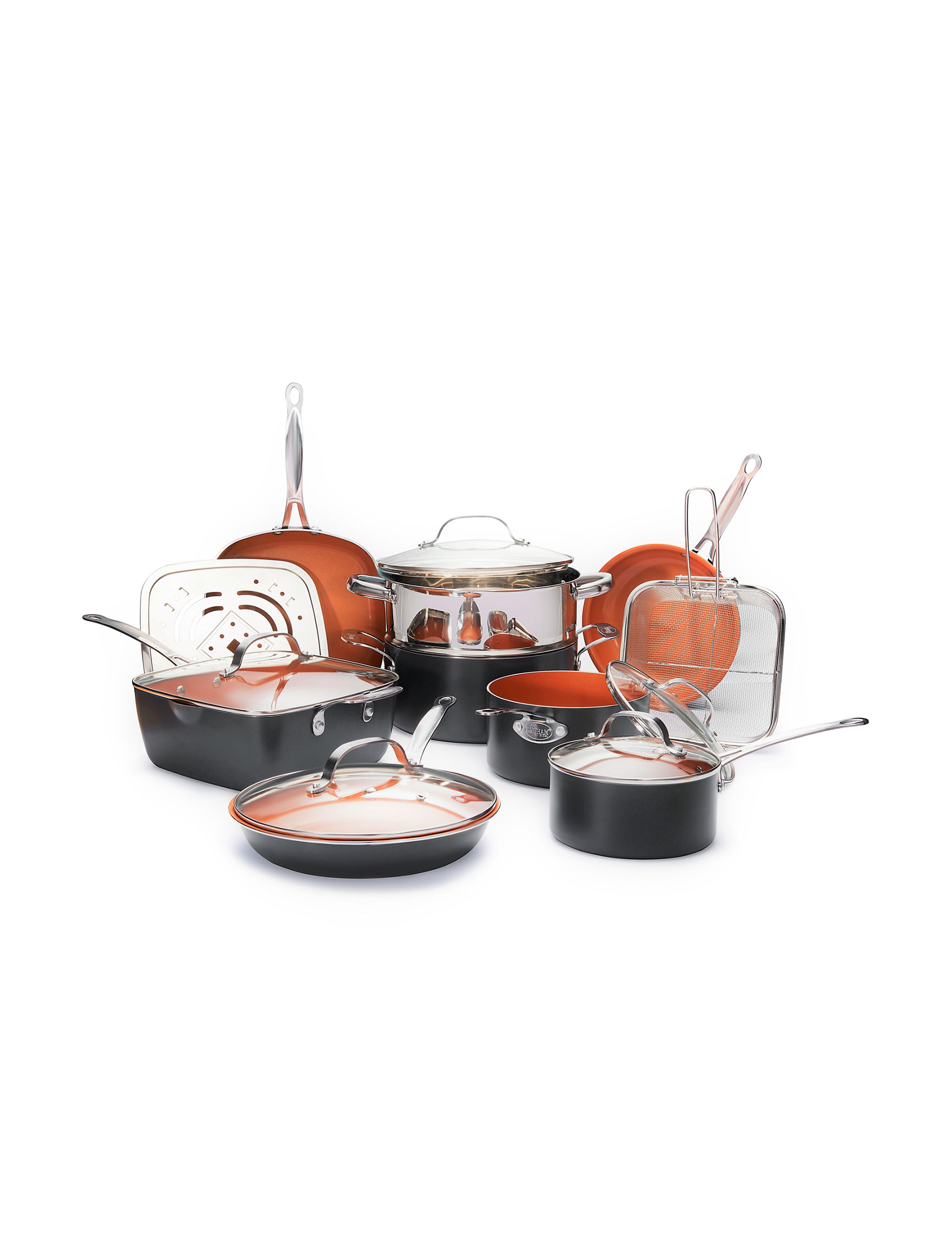 Gotham Steel Rust / Copper Cookware Sets Cookware