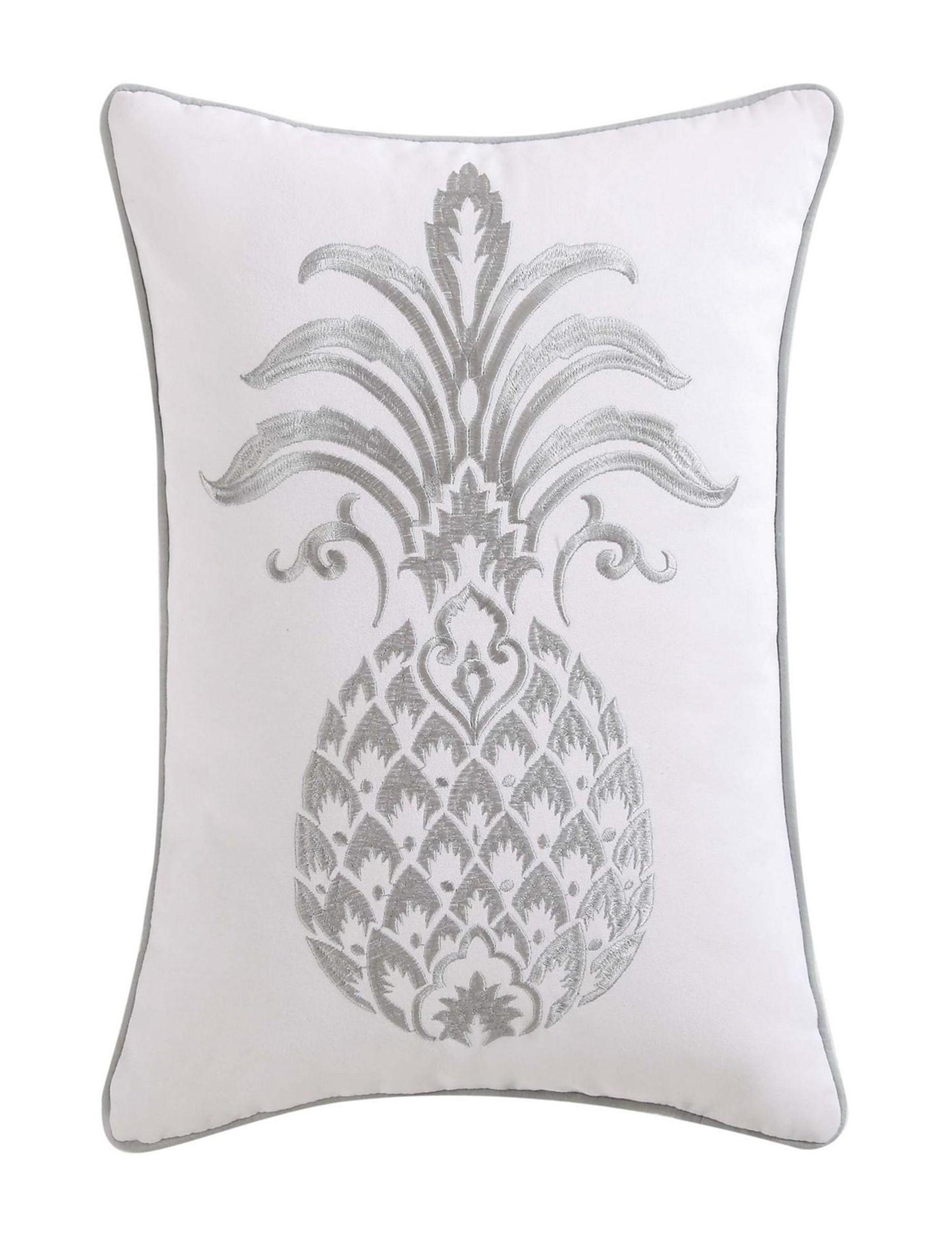 Oceanfront Resort Grey Decorative Pillows